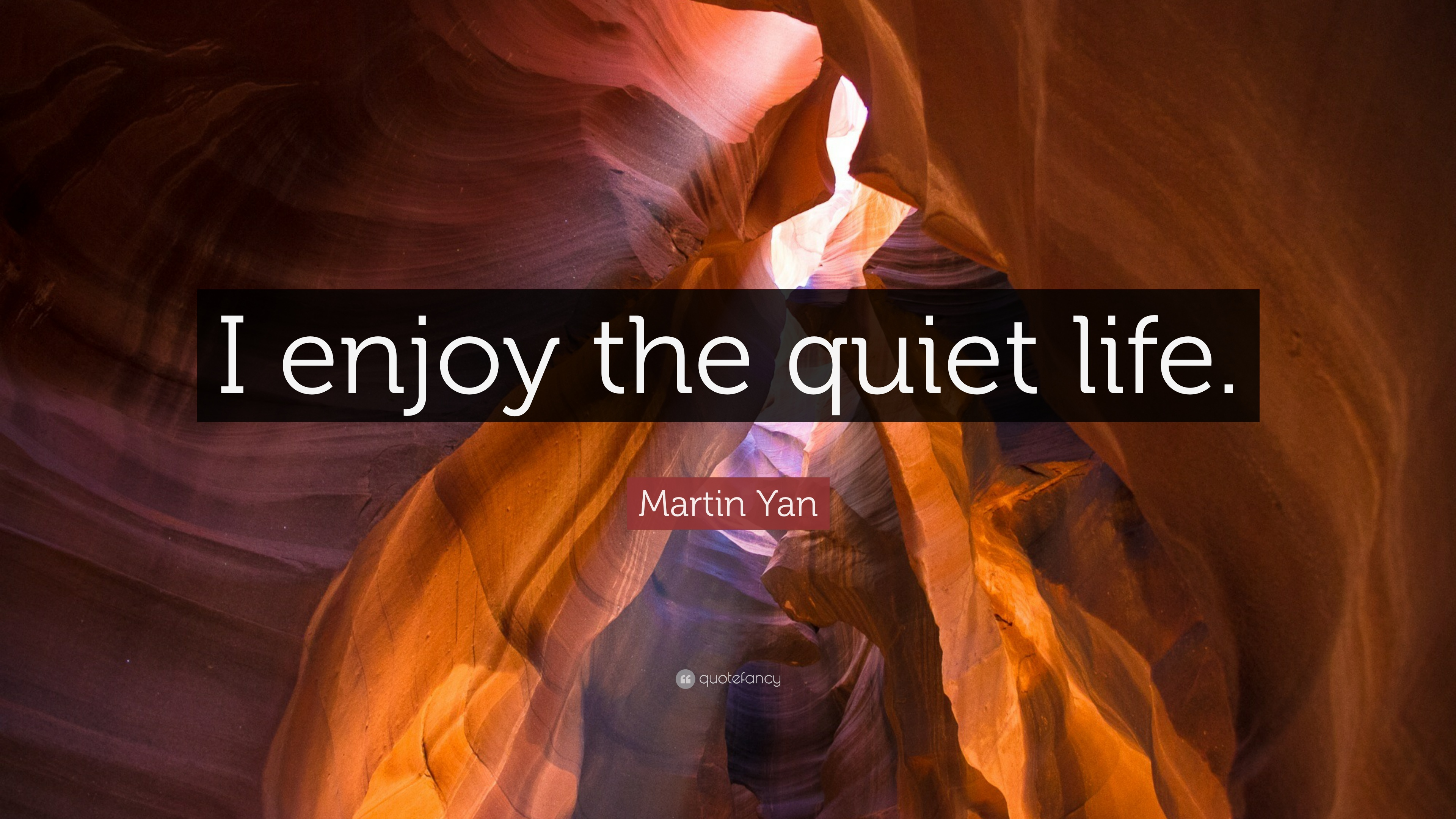 Martin Yan Quote I Enjoy The Quiet Life 9 Wallpapers Quotefancy