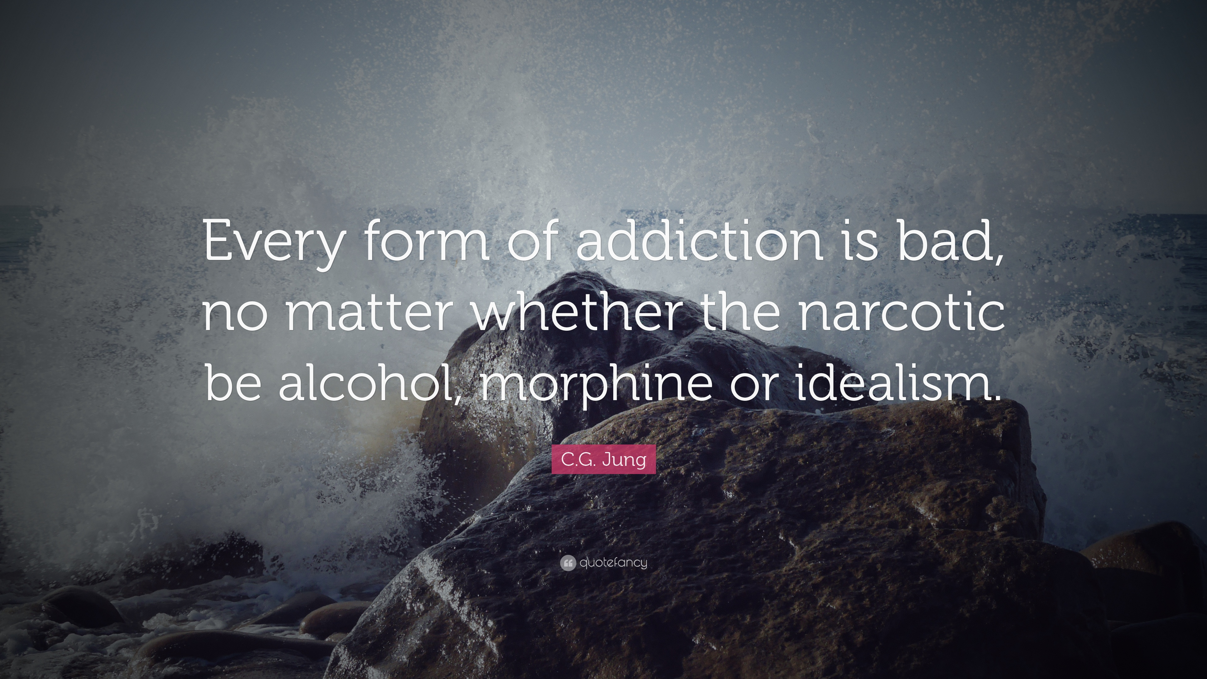 """Addiction Quotes C.gjung Quote """"Every Form Of Addiction Is Bad No Matter"""