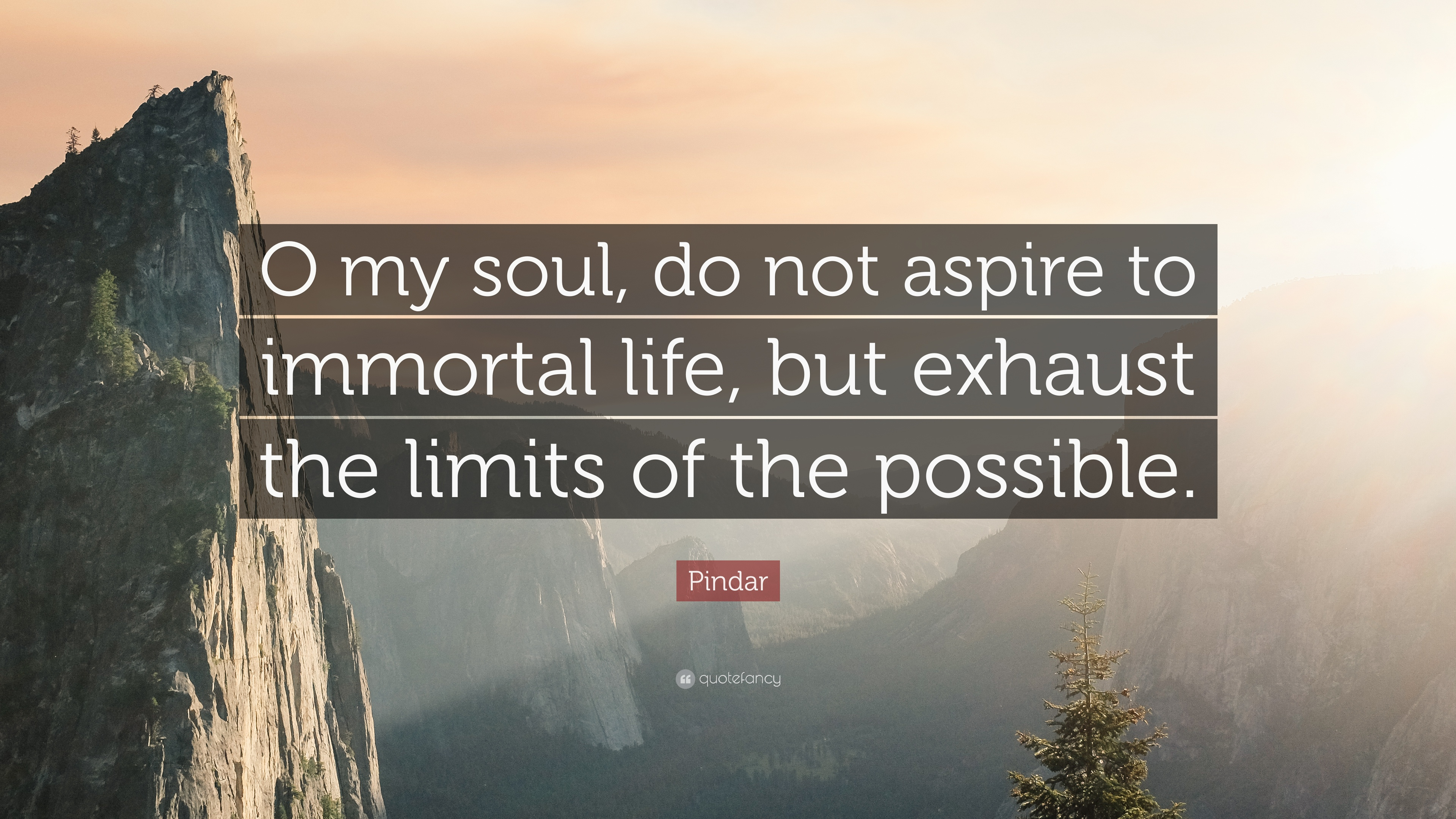 Pindar Quote u201cO my soul do not