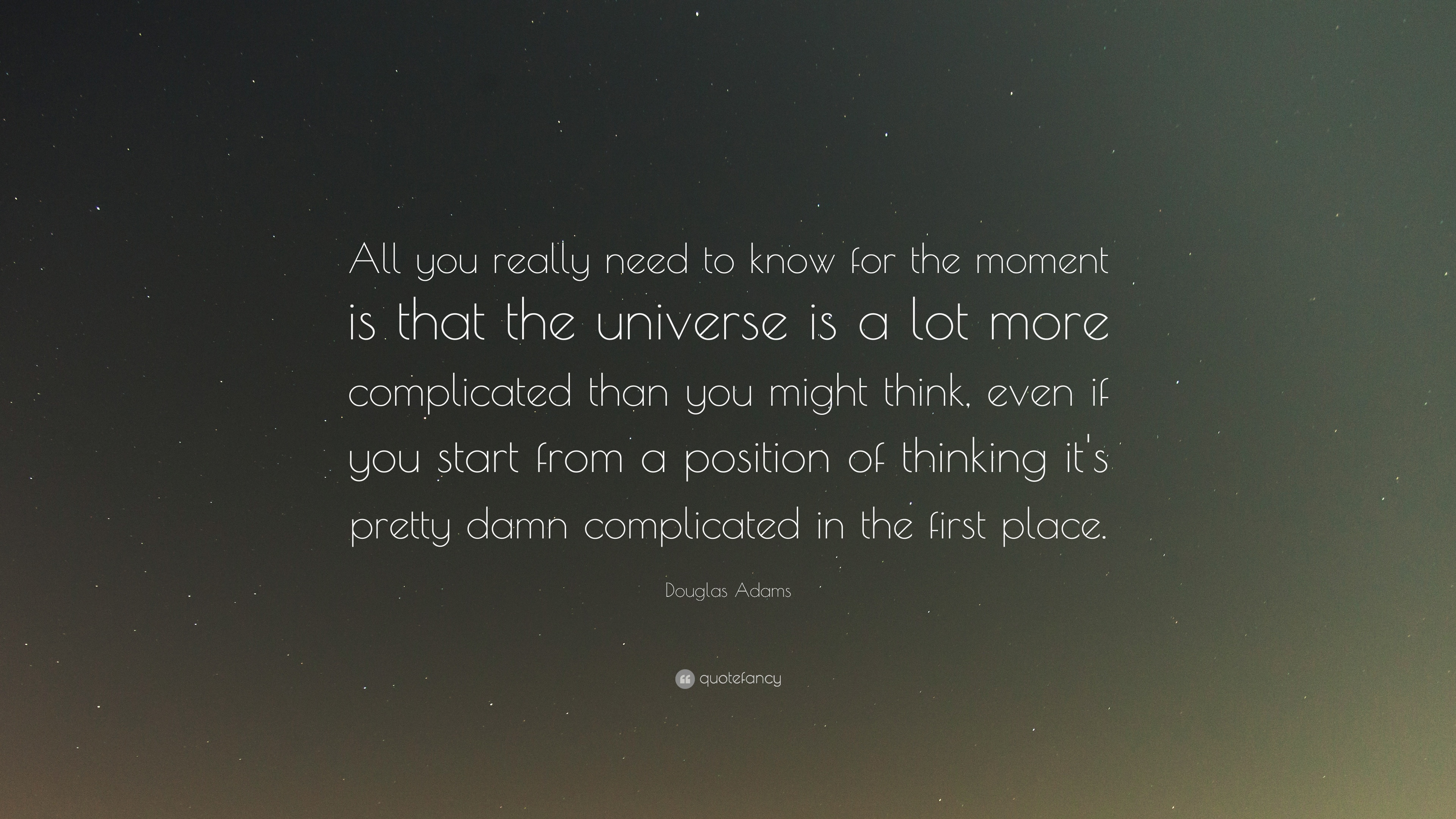 Douglas Adams Quotes (100 Wallpapers)