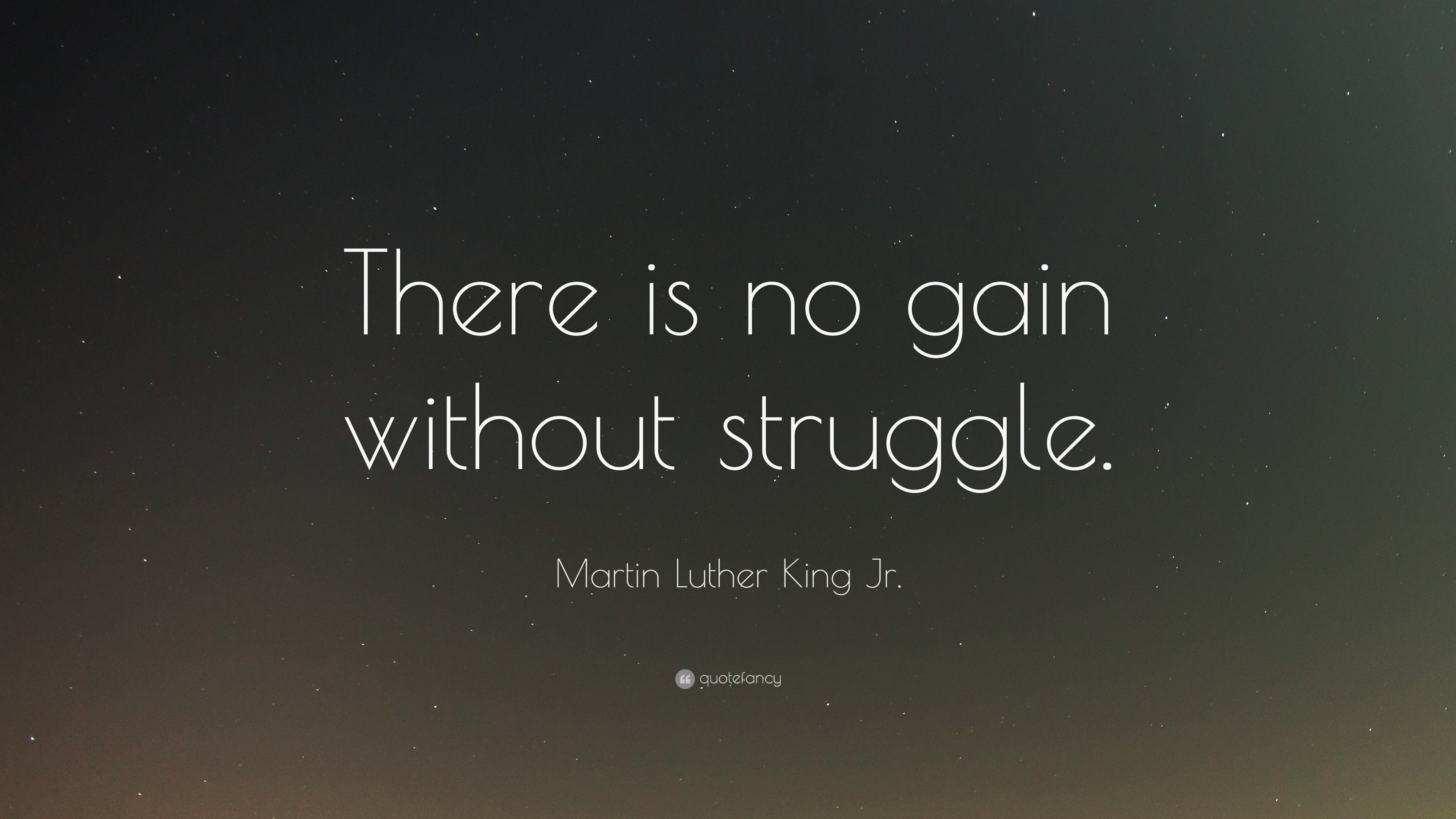 """Images Of Martin Luther King Quotes Martin Luther King Jrquote """"There Is No Gain Without Struggle"""