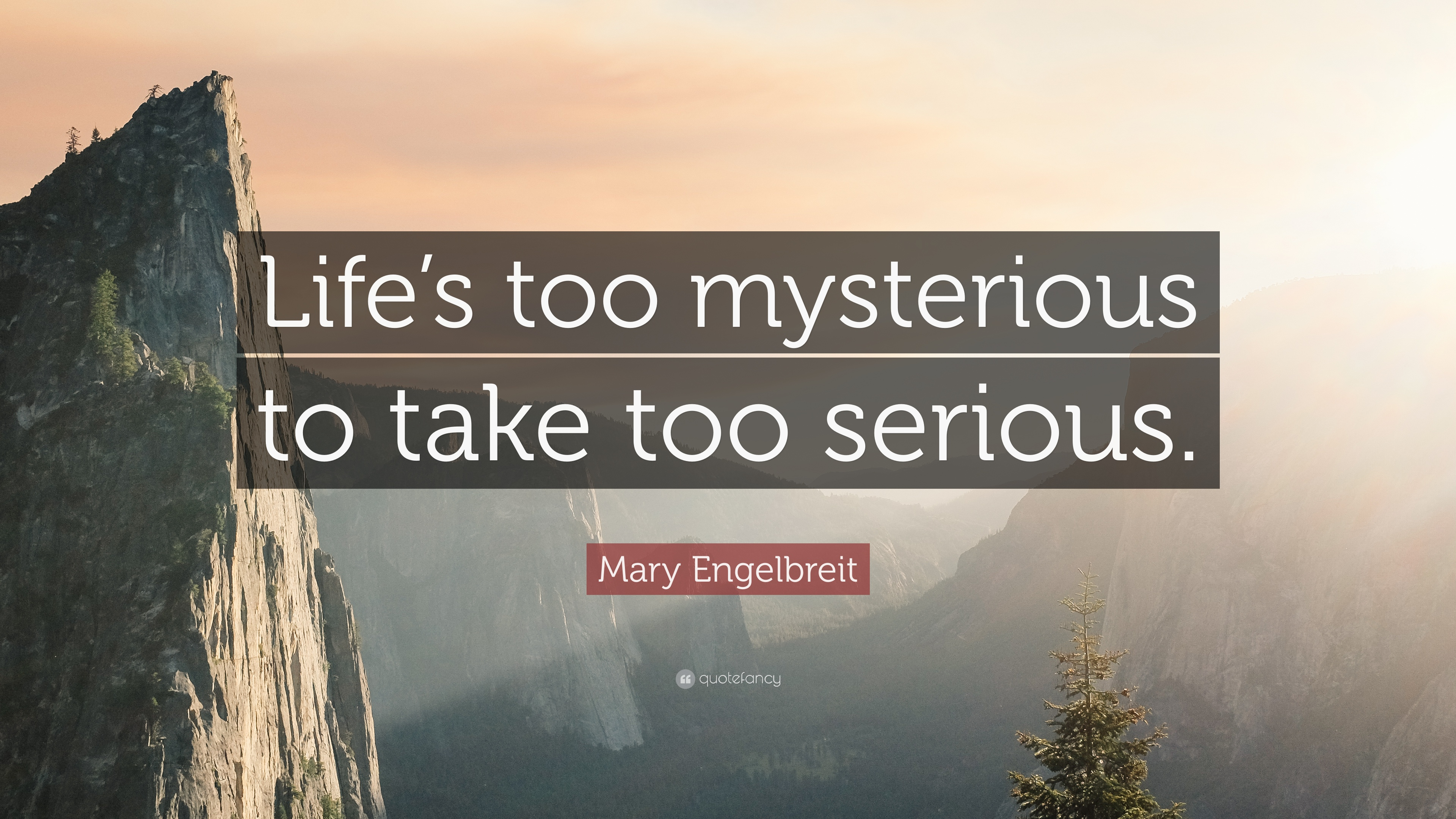 """Mary Engelbreit Quote: """"Life's too mysterious to take too ..."""