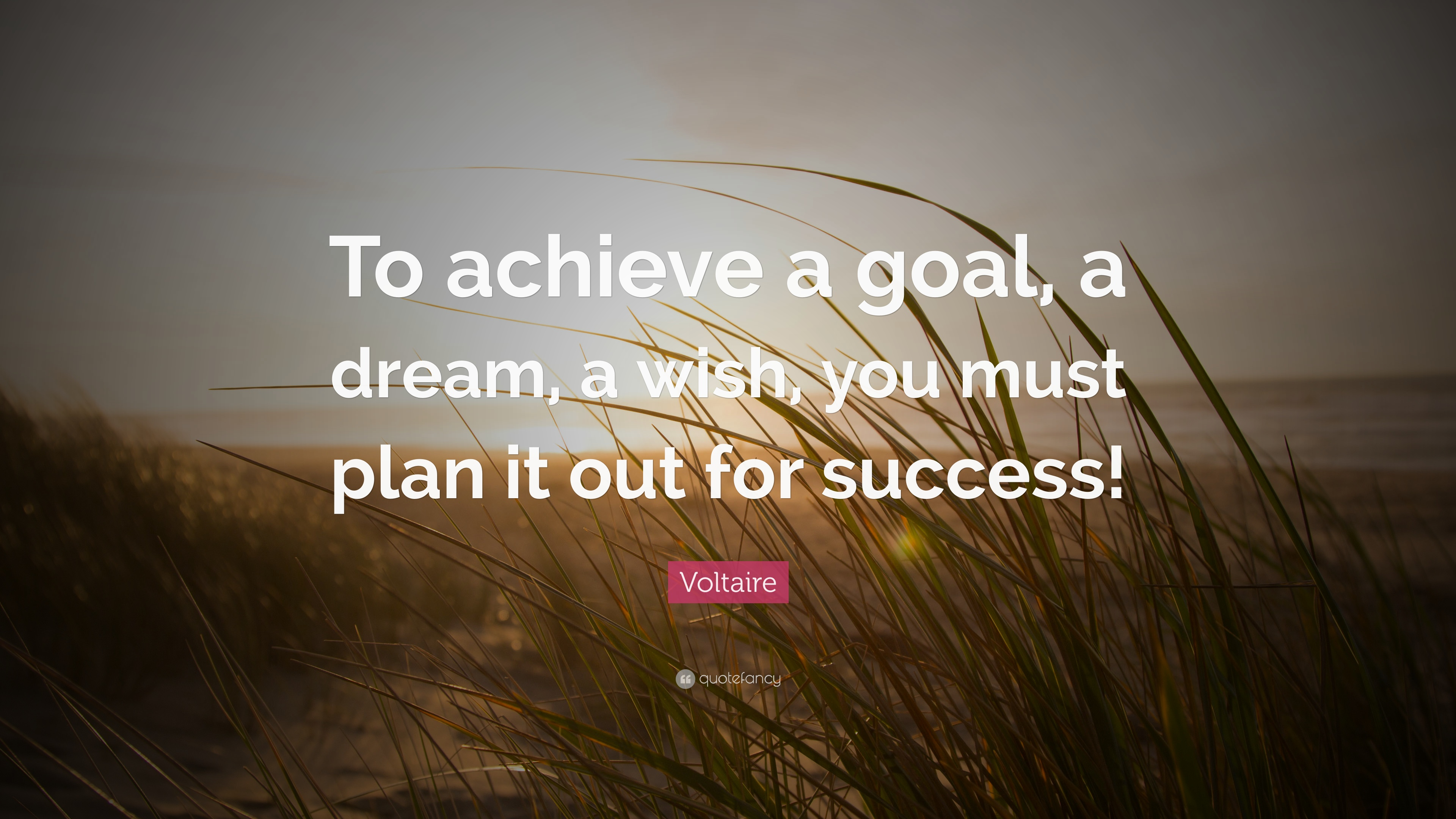 Captivating Voltaire Quote: U201cTo Achieve A Goal, A Dream, A Wish, You