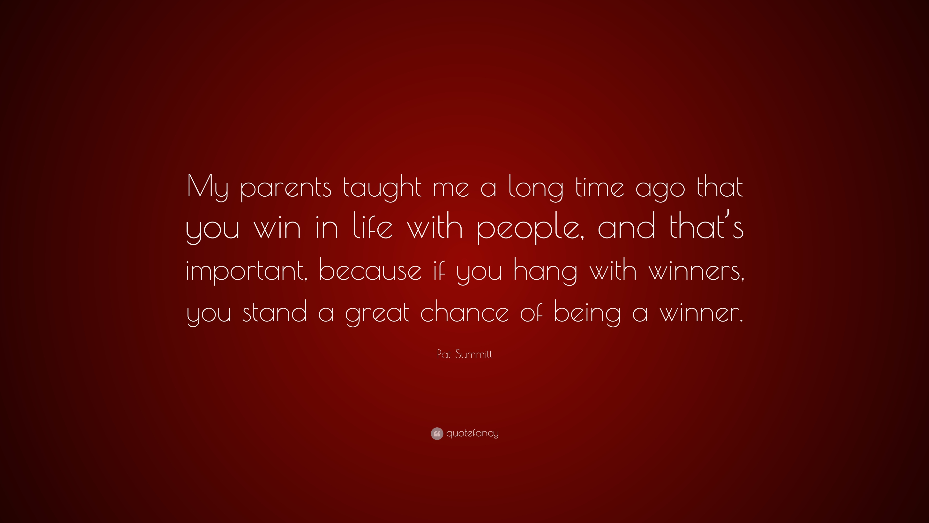 Pat Summitt Quote My Parents Taught Me A Long Time Ago That You