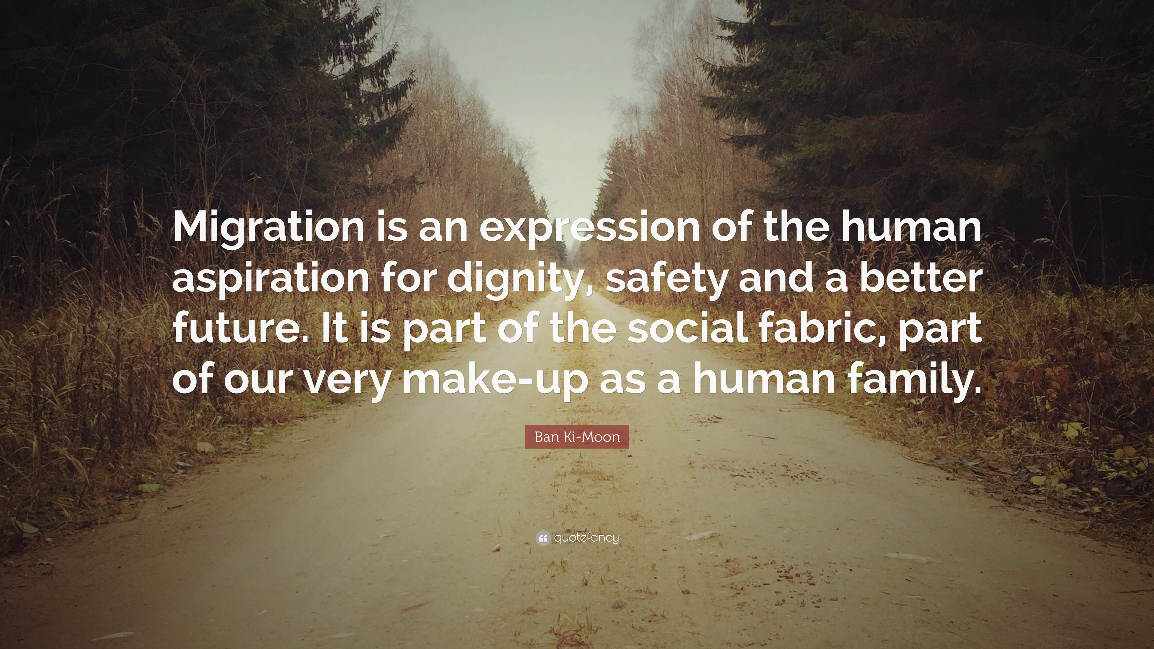 """ban ki moon quote """"migration is an expression of the human"""