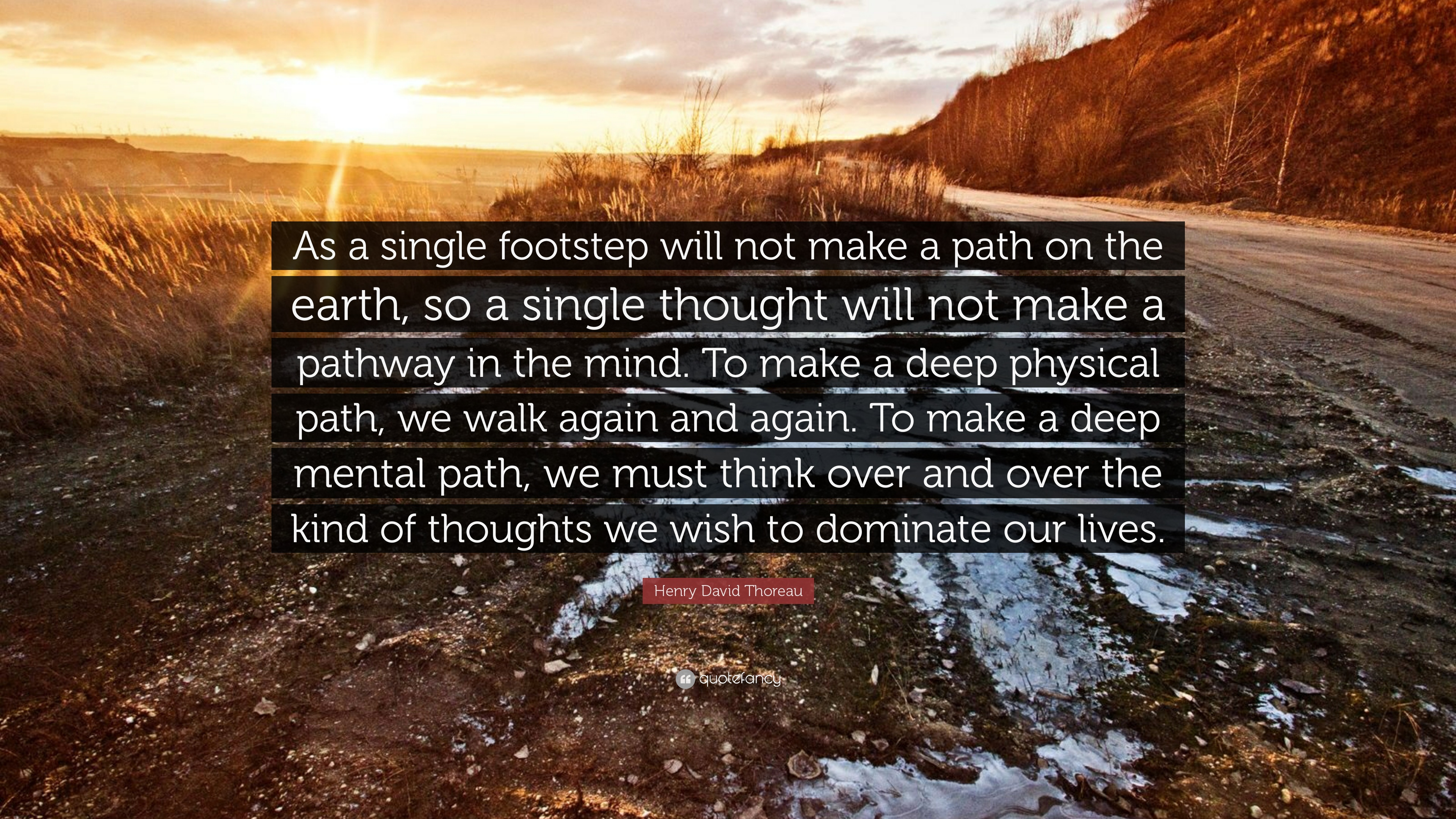 Image result for thoreau a single footstep