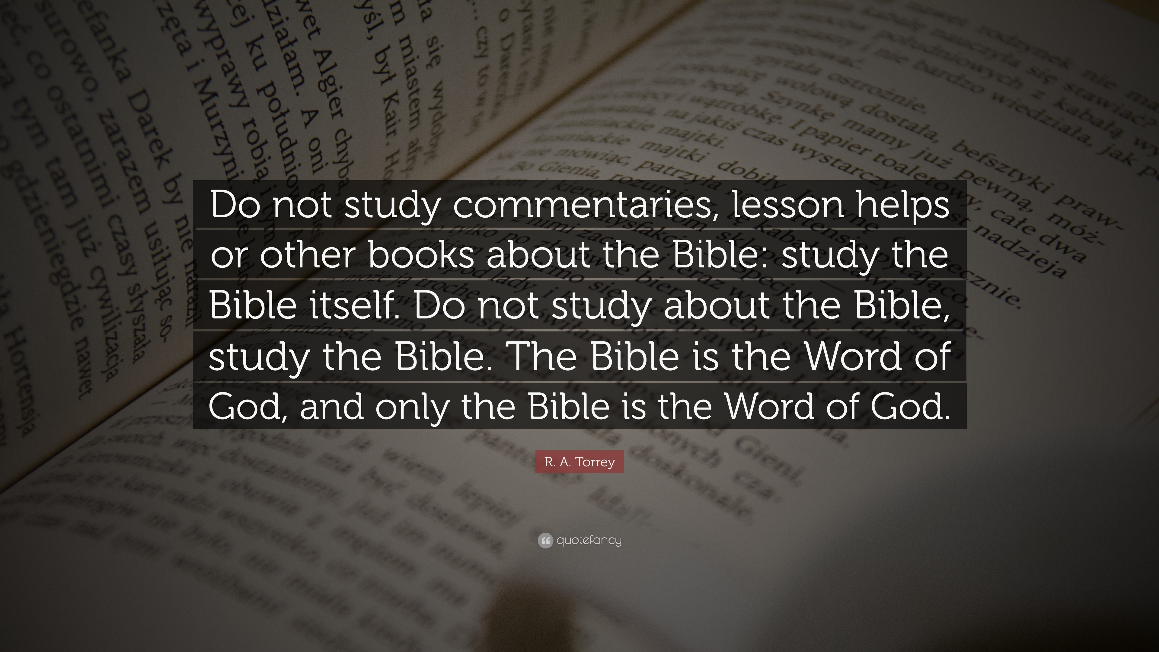 Study helps for the bible