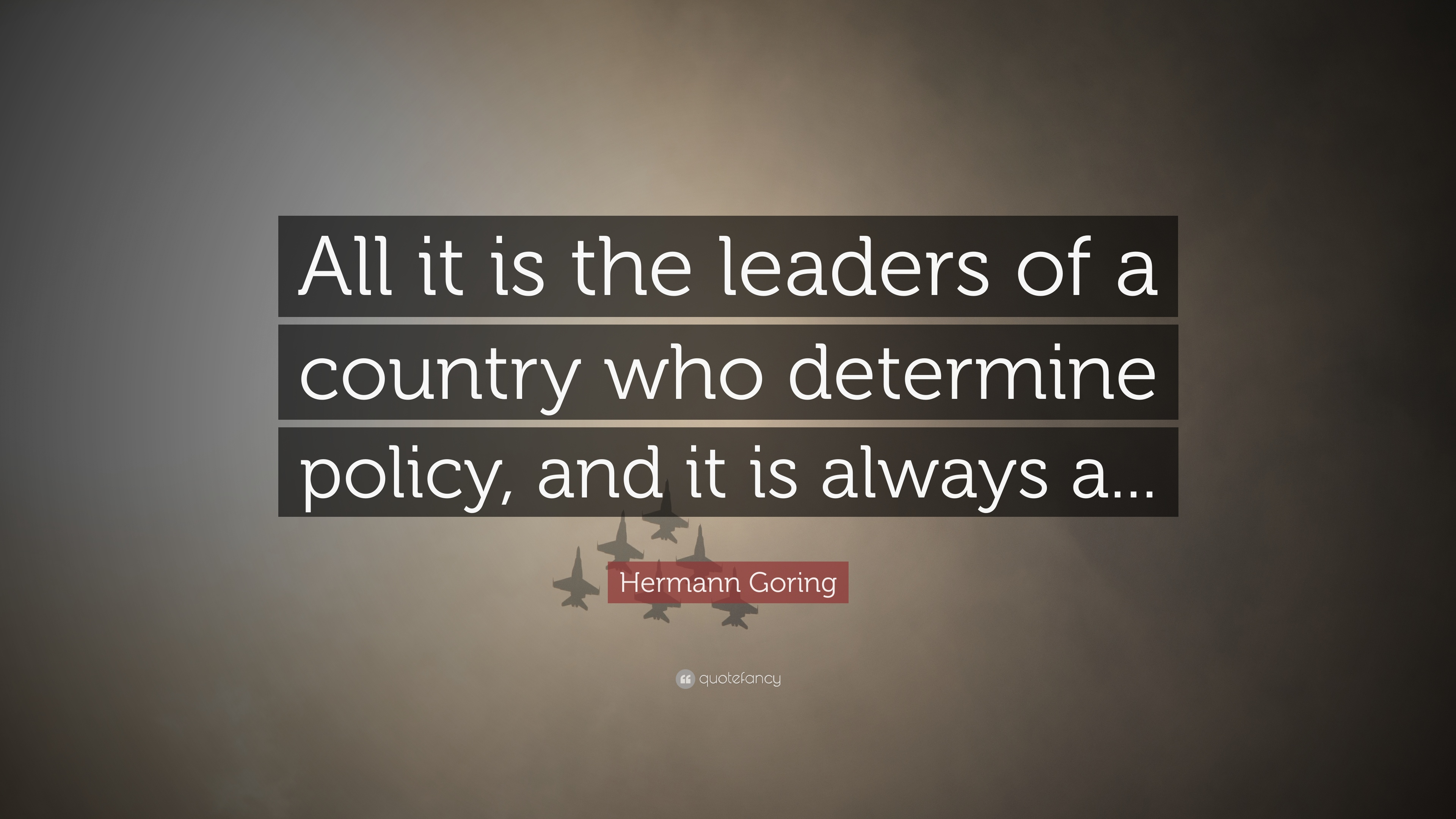 Leadership determines the fate of a country