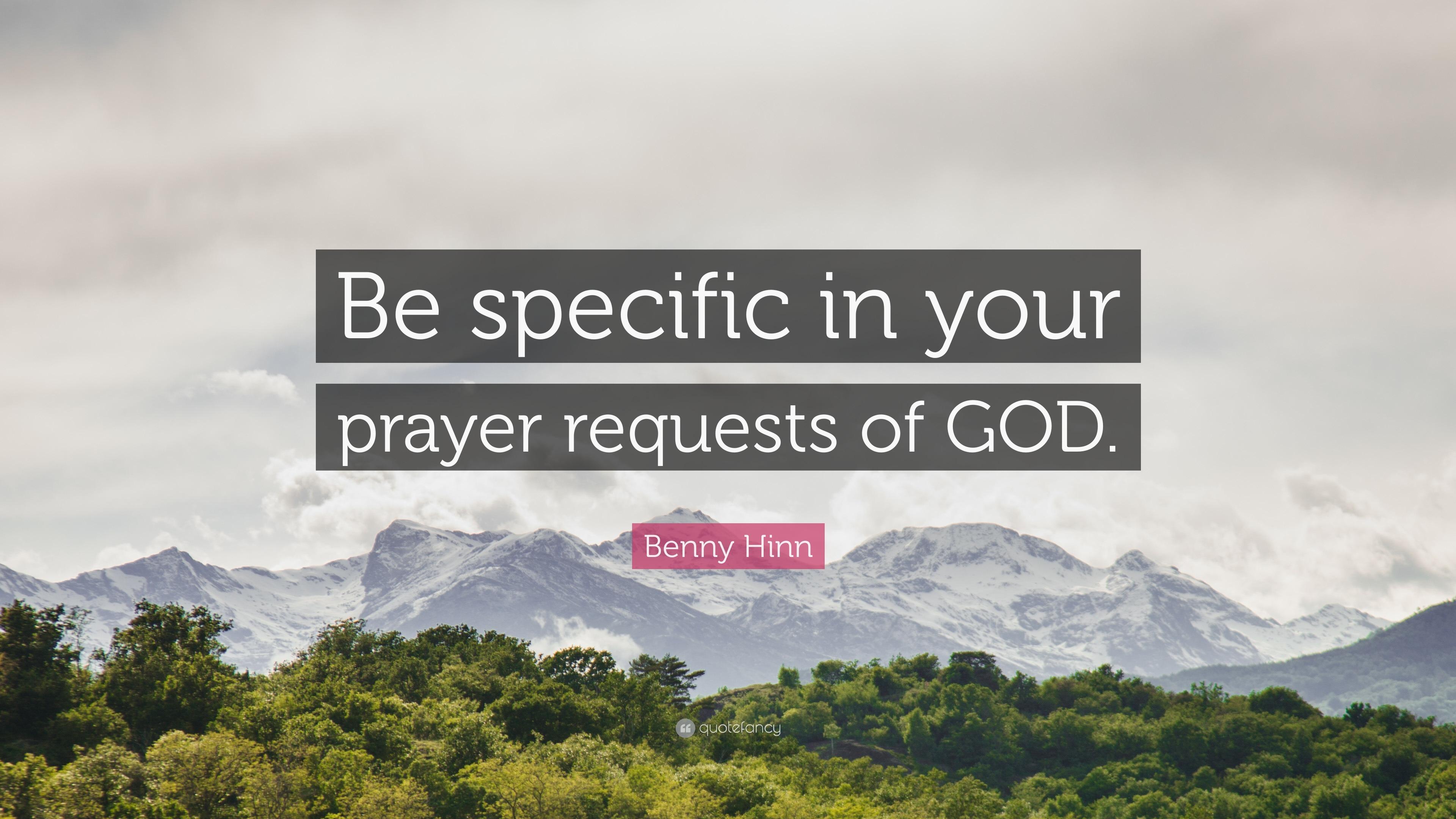 Benny Hinn Prayer Request