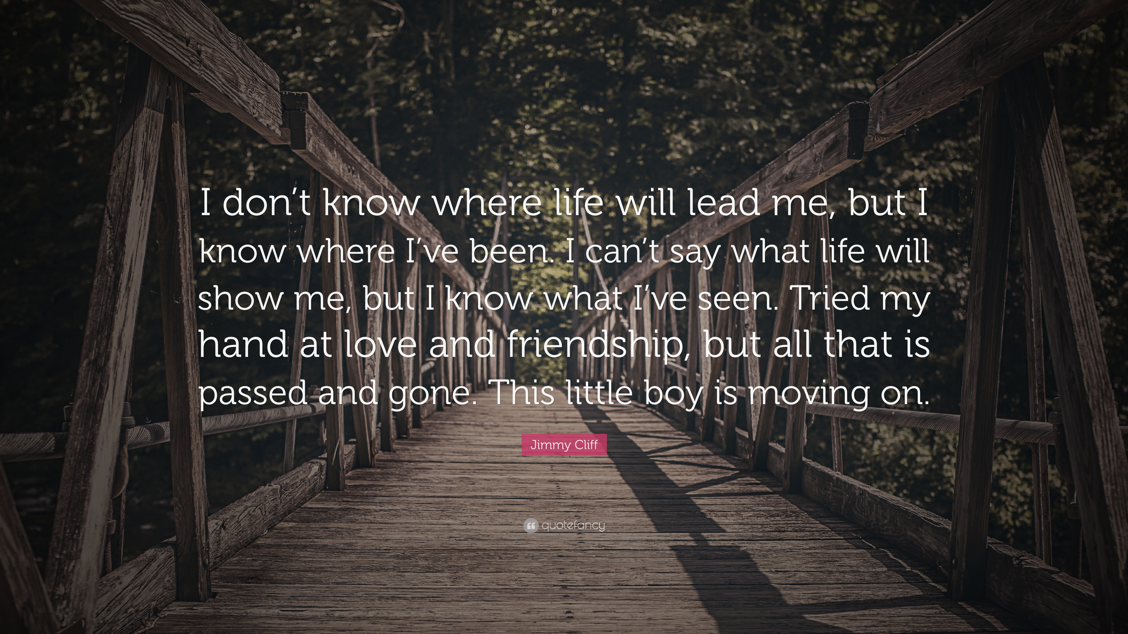 Jimmy Cliff Quote I Dont Know Where Life Will Lead Me But I Know