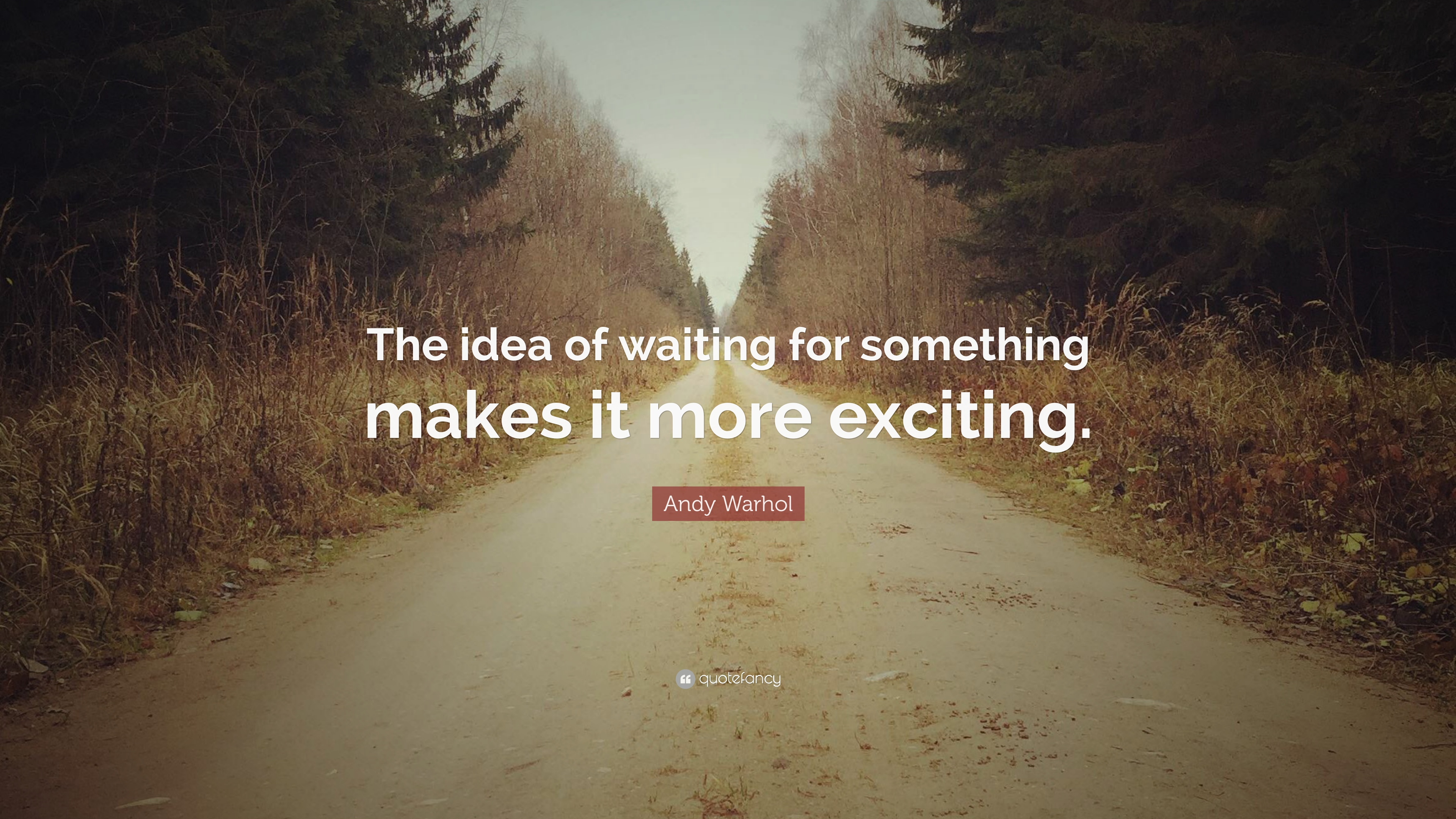 Andy Warhol Quote The Idea Of Waiting For Something Makes It More