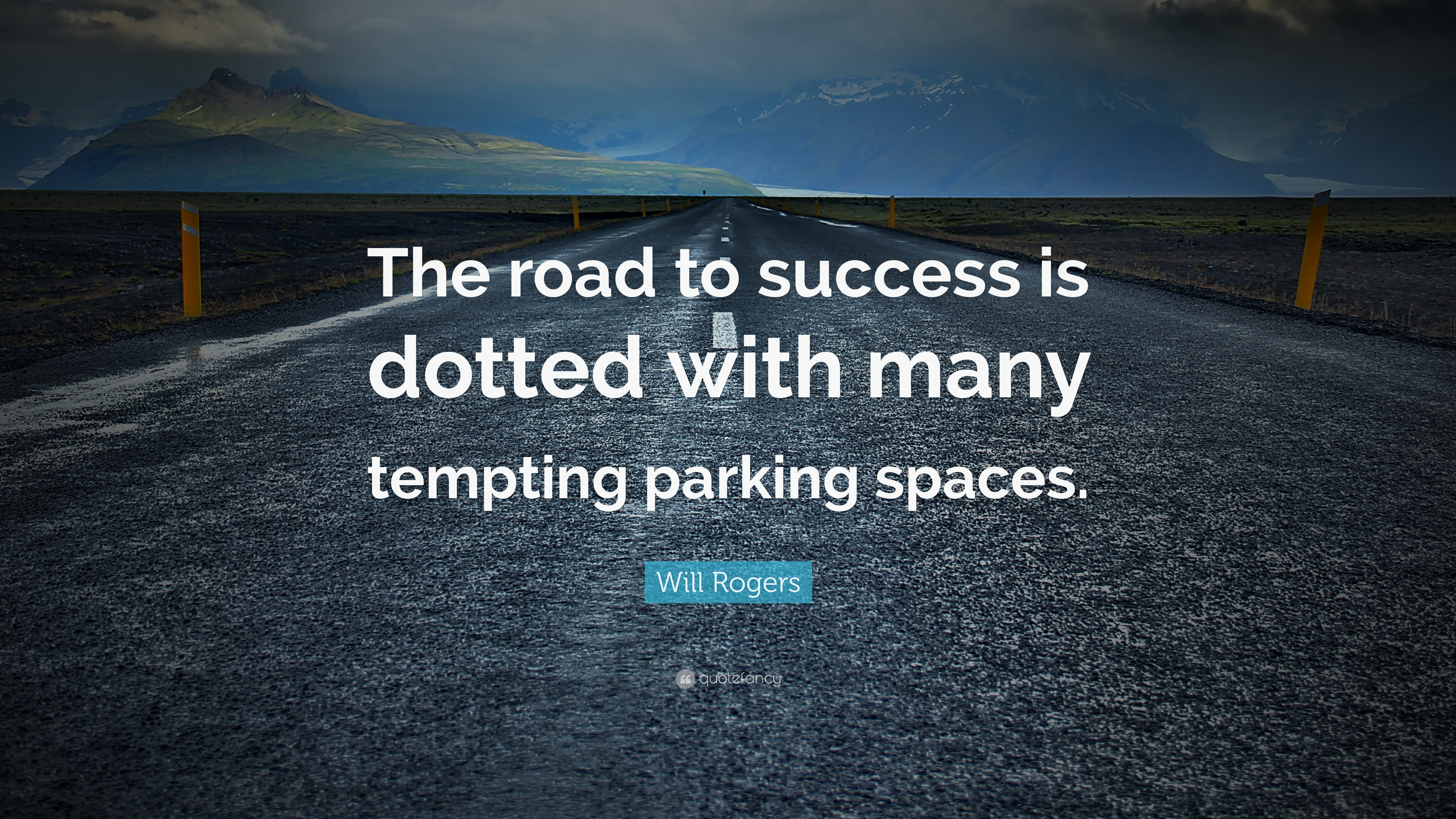 """Road To Success Quotes Will Rogers Quote """"The Road To Success Is Dotted With Many"""