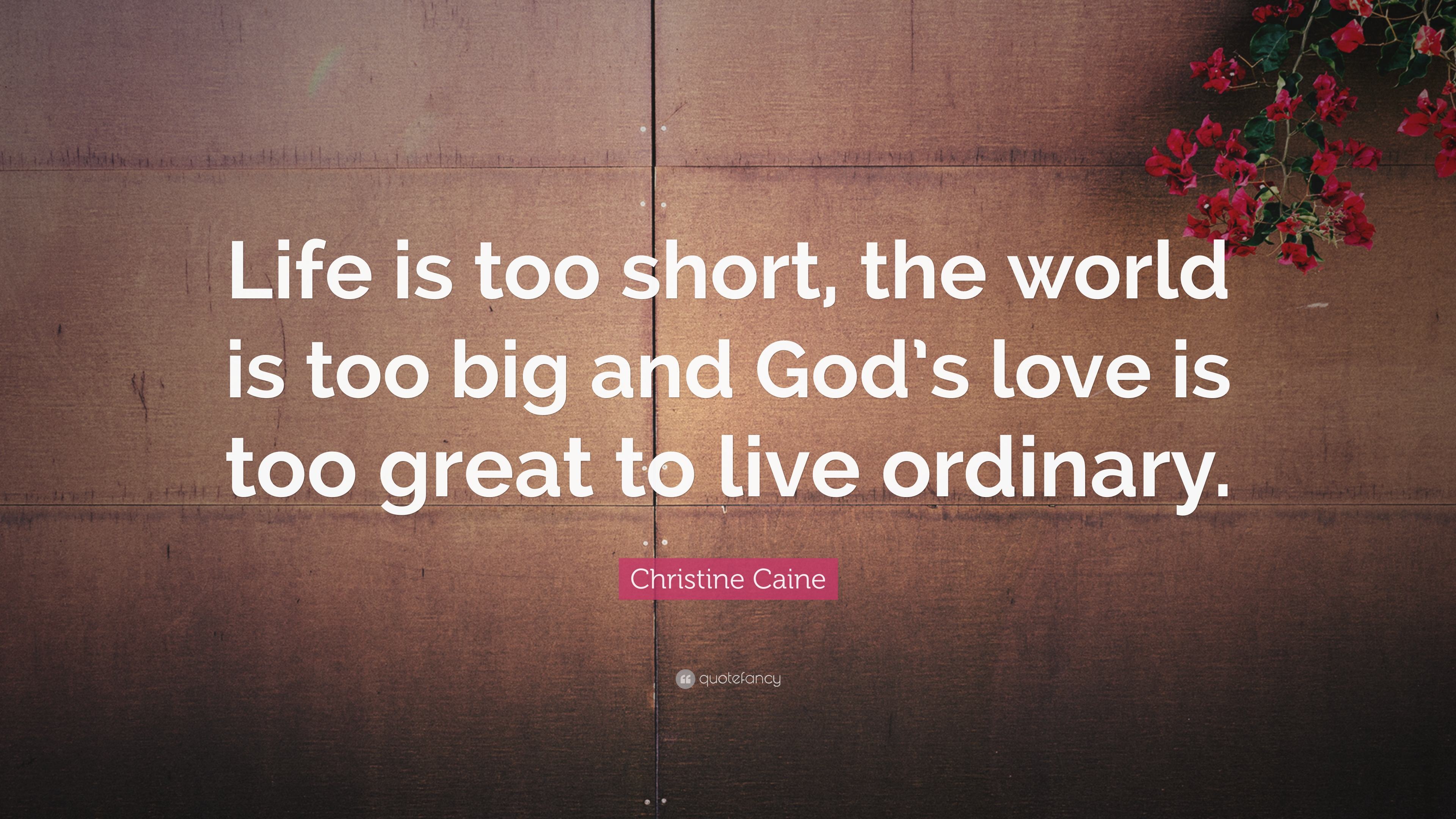 "Great Quote On Life Christine Caine Quote ""Life Is Too Short The World Is Too Big"