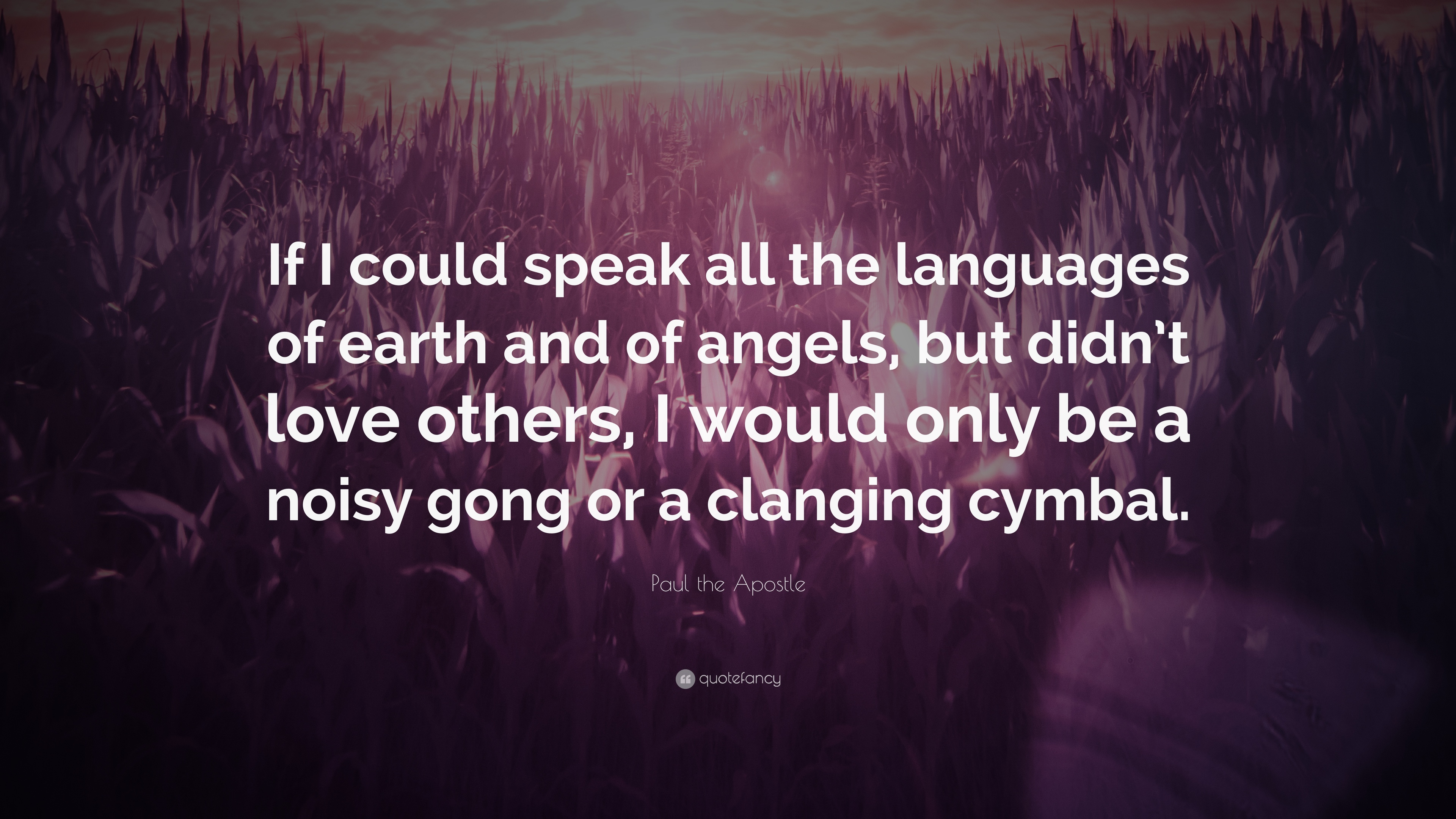 Paul The Apostle Quote If I Could Speak All The Languages Of - Languages on earth