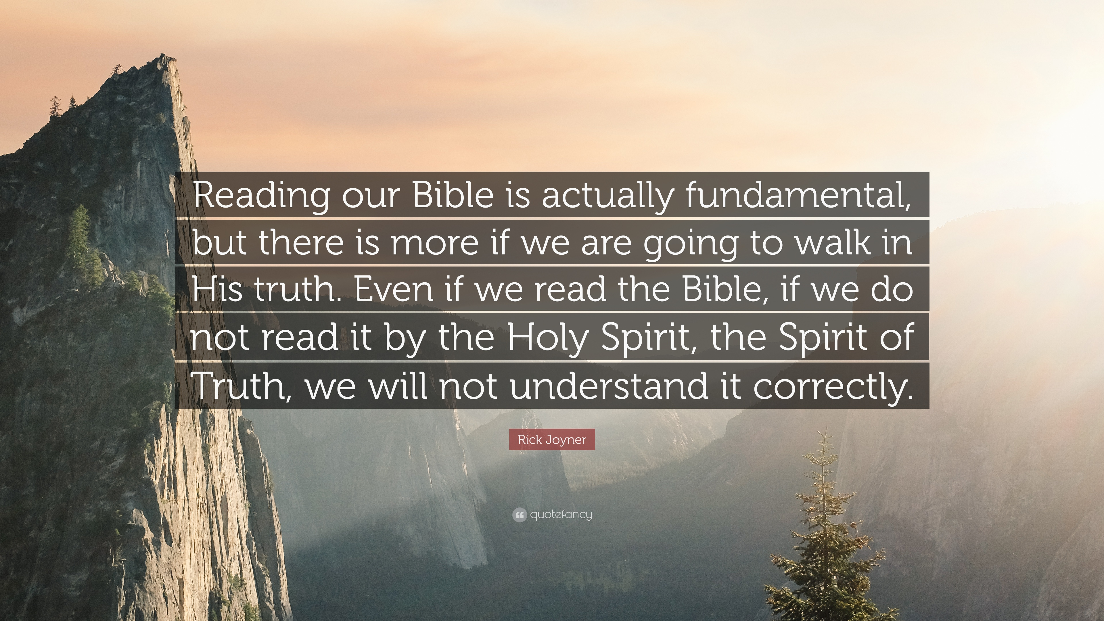 """Rick Joyner Quote: """"Reading our Bible is actually ..."""