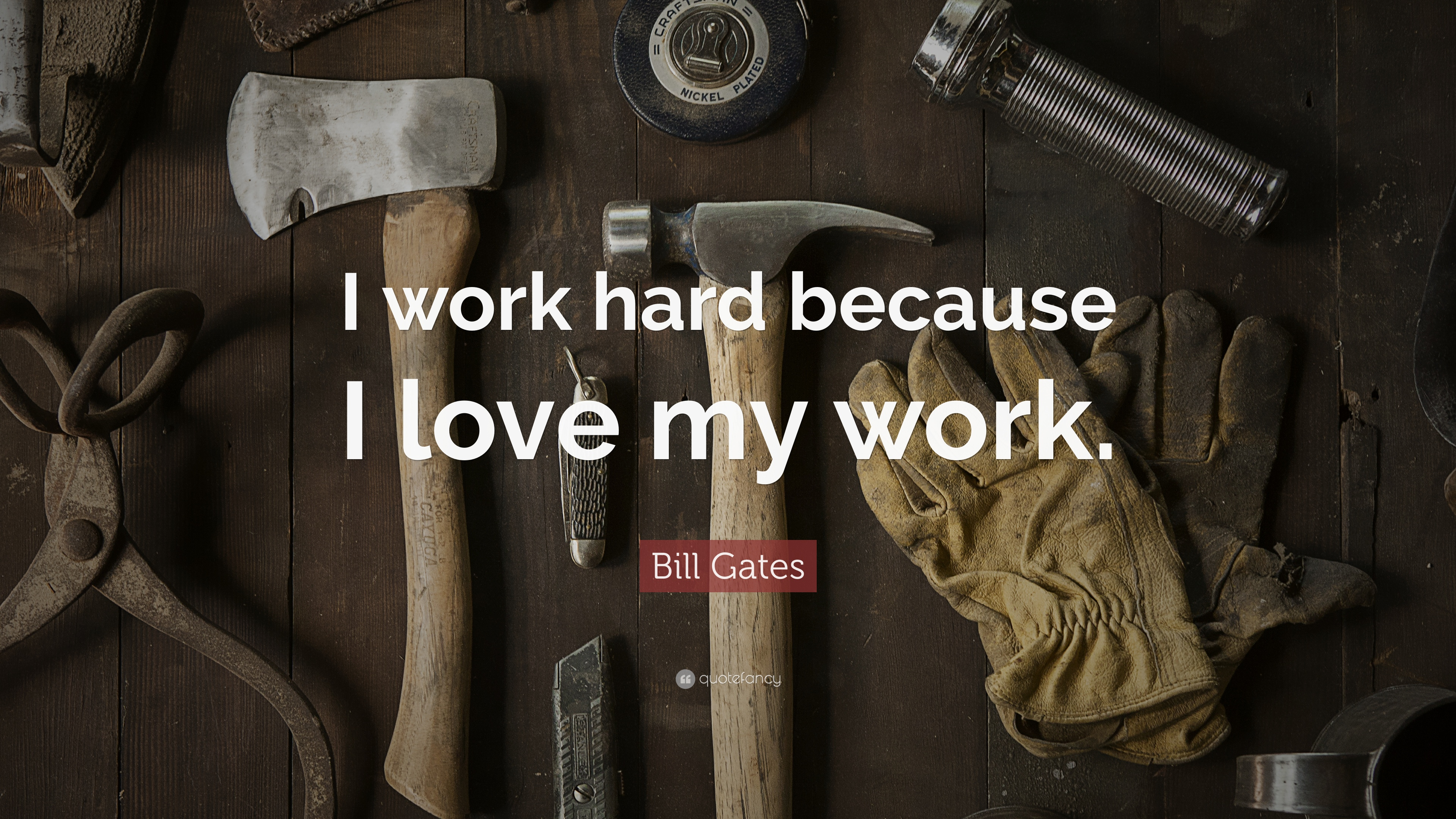 Bill Gates Quote I Work Hard Because I Love My Work 12