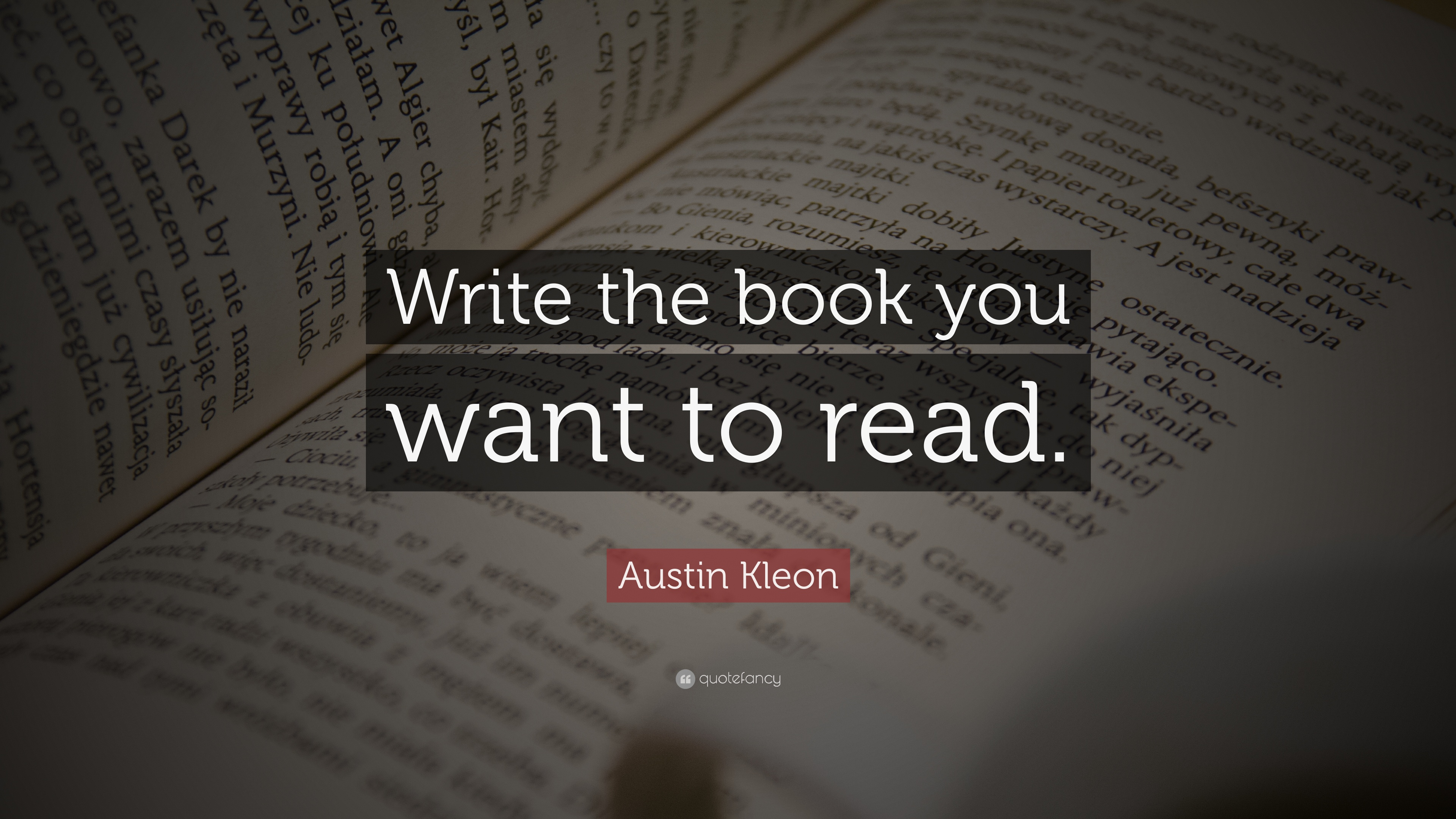 Write the book you want to read