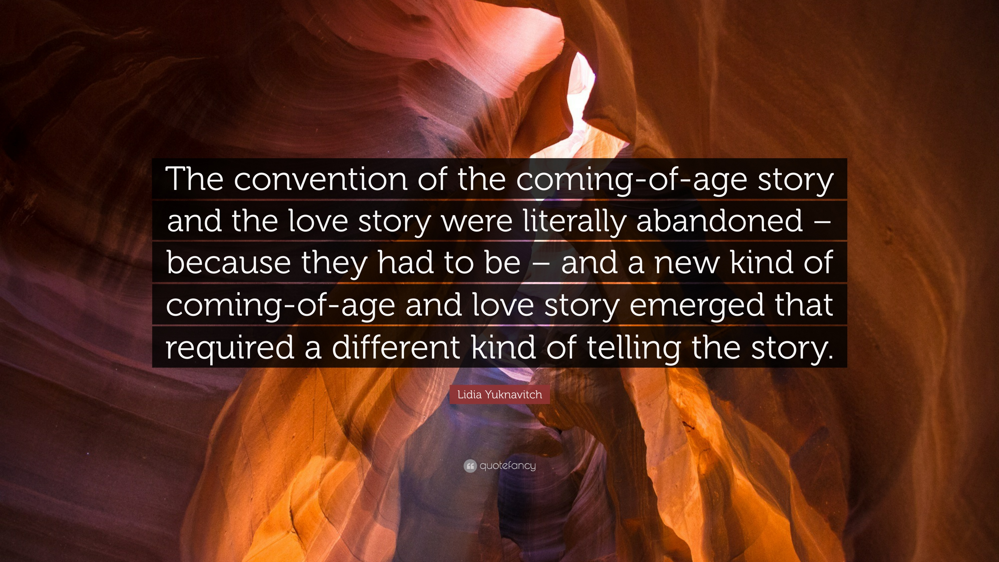 """Lidia Yuknavitch Quote: """"The Convention Of The Coming-of"""