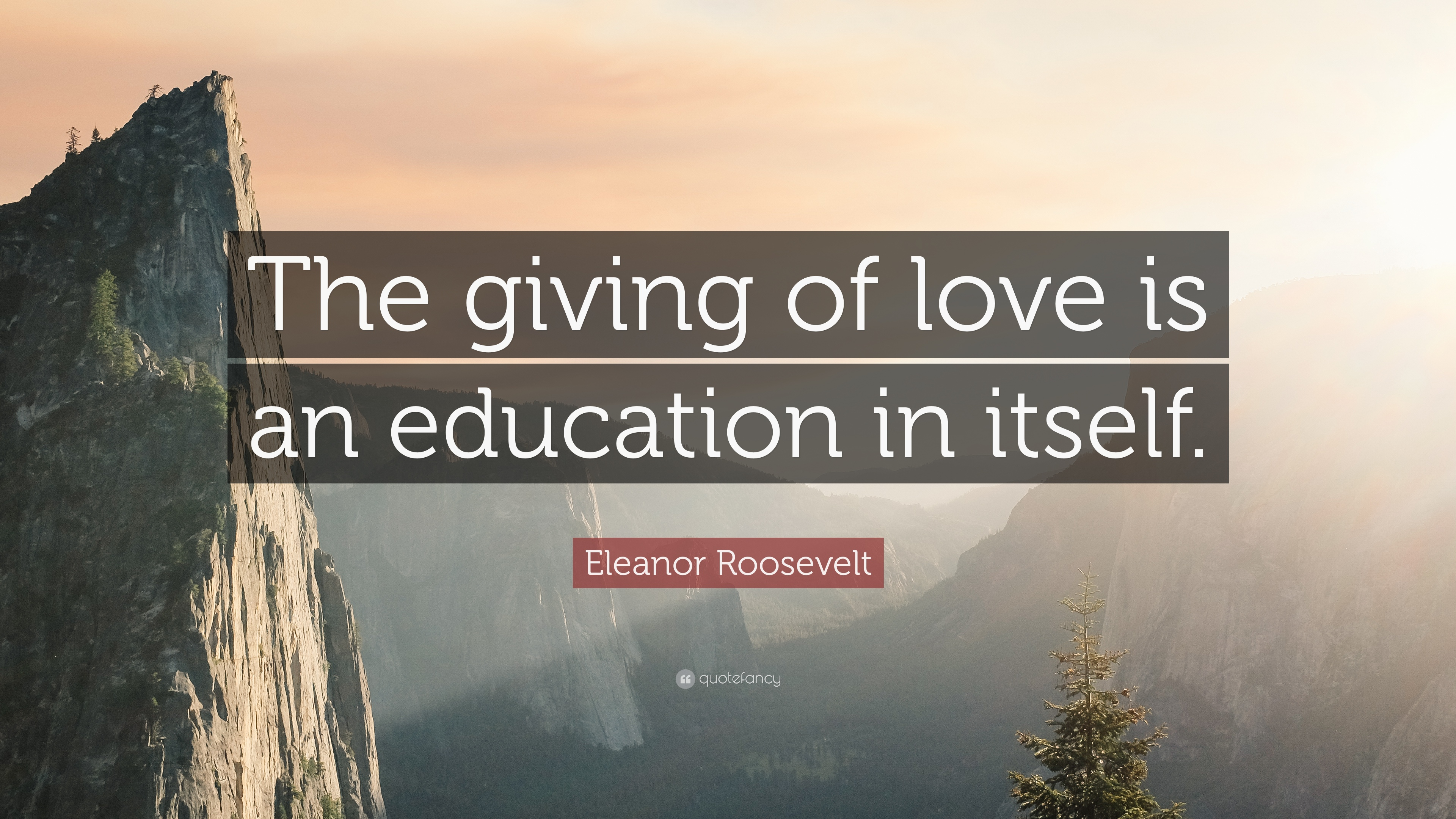 "Giving Love Quotes Eleanor Roosevelt Quote ""The Giving Of Love Is An Education In"