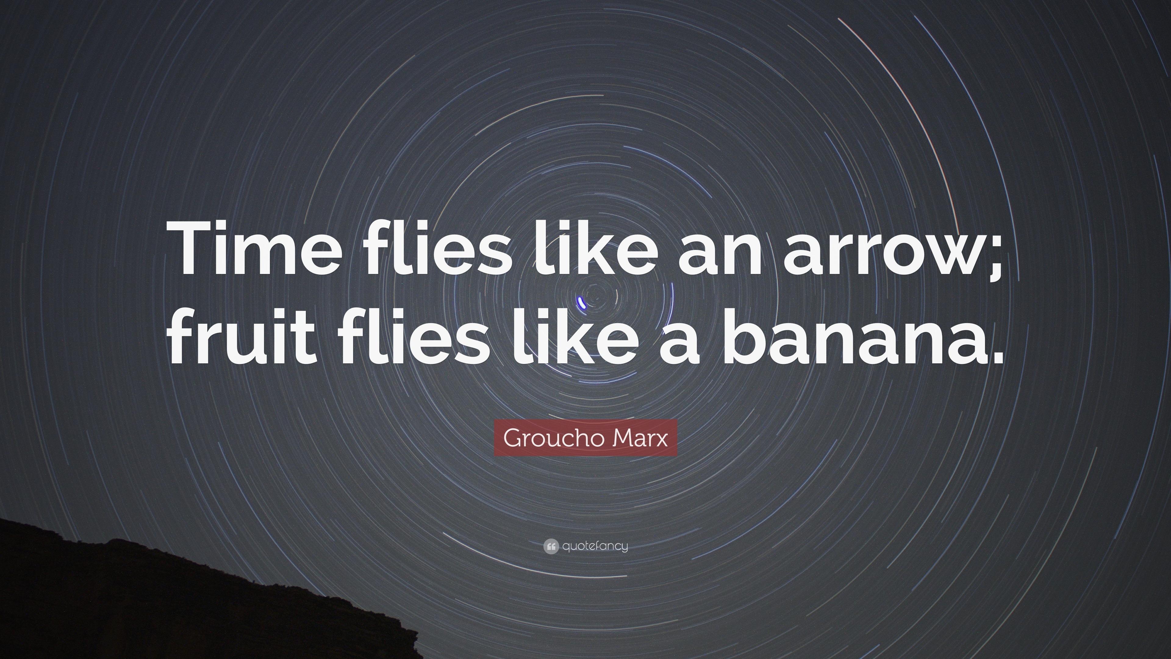 Groucho Marx Quote Time Flies Like An Arrow Fruit Flies Like A