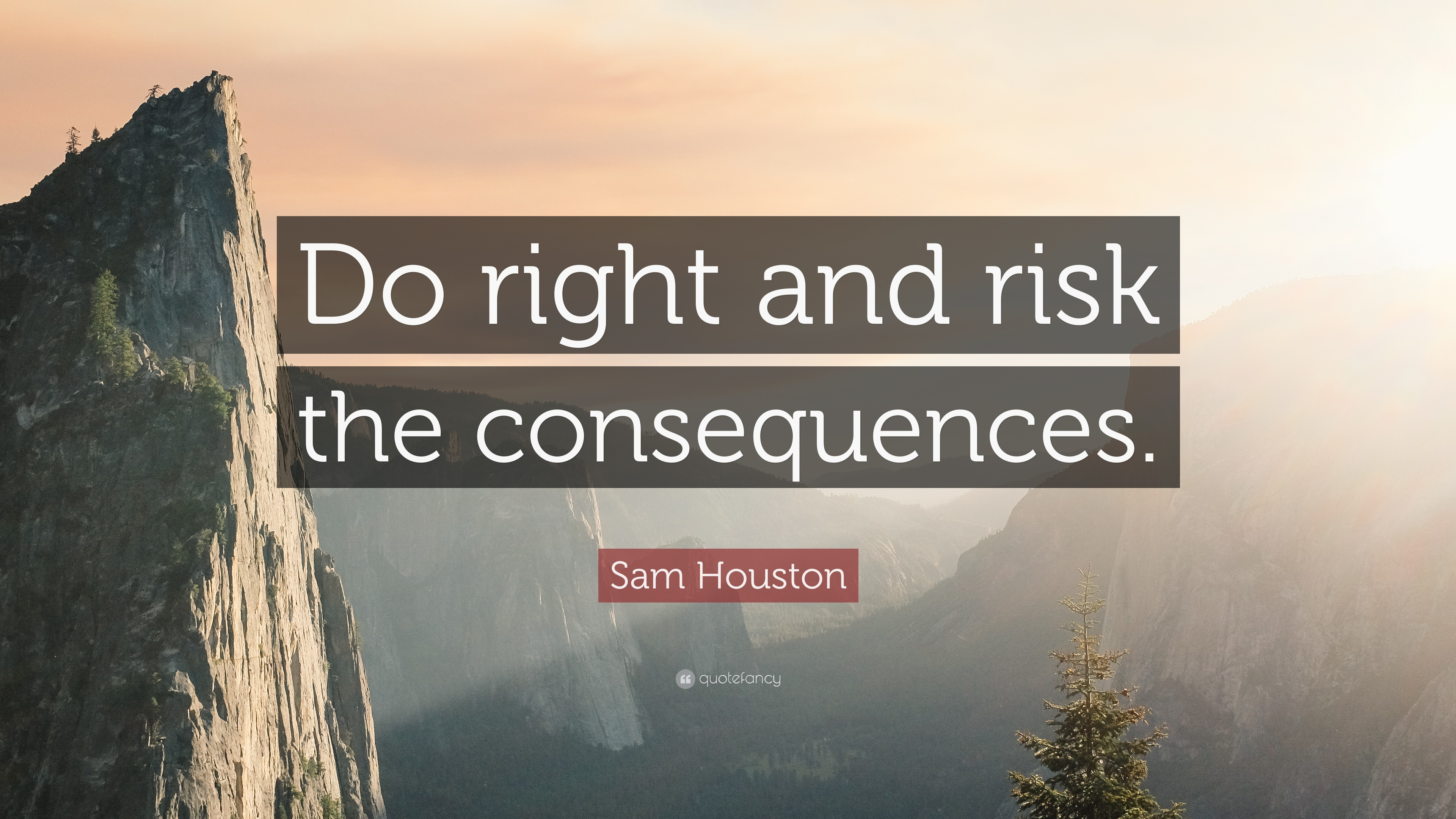 """Sam Houston Quote: """"Do Right And Risk The Consequences"""