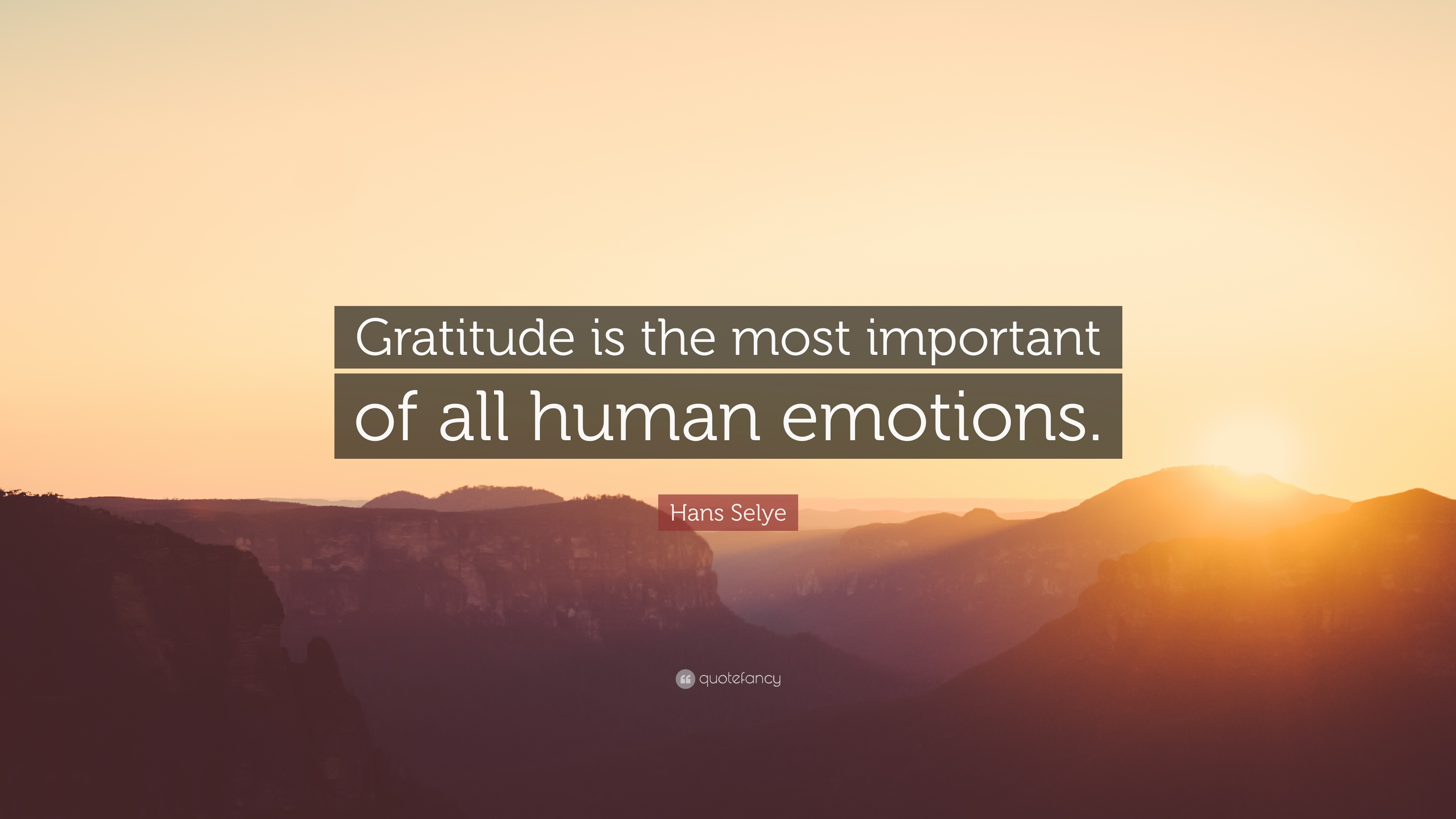 Hans Selye Quote Gra Ude Is The Most Important Of All Human Emotions