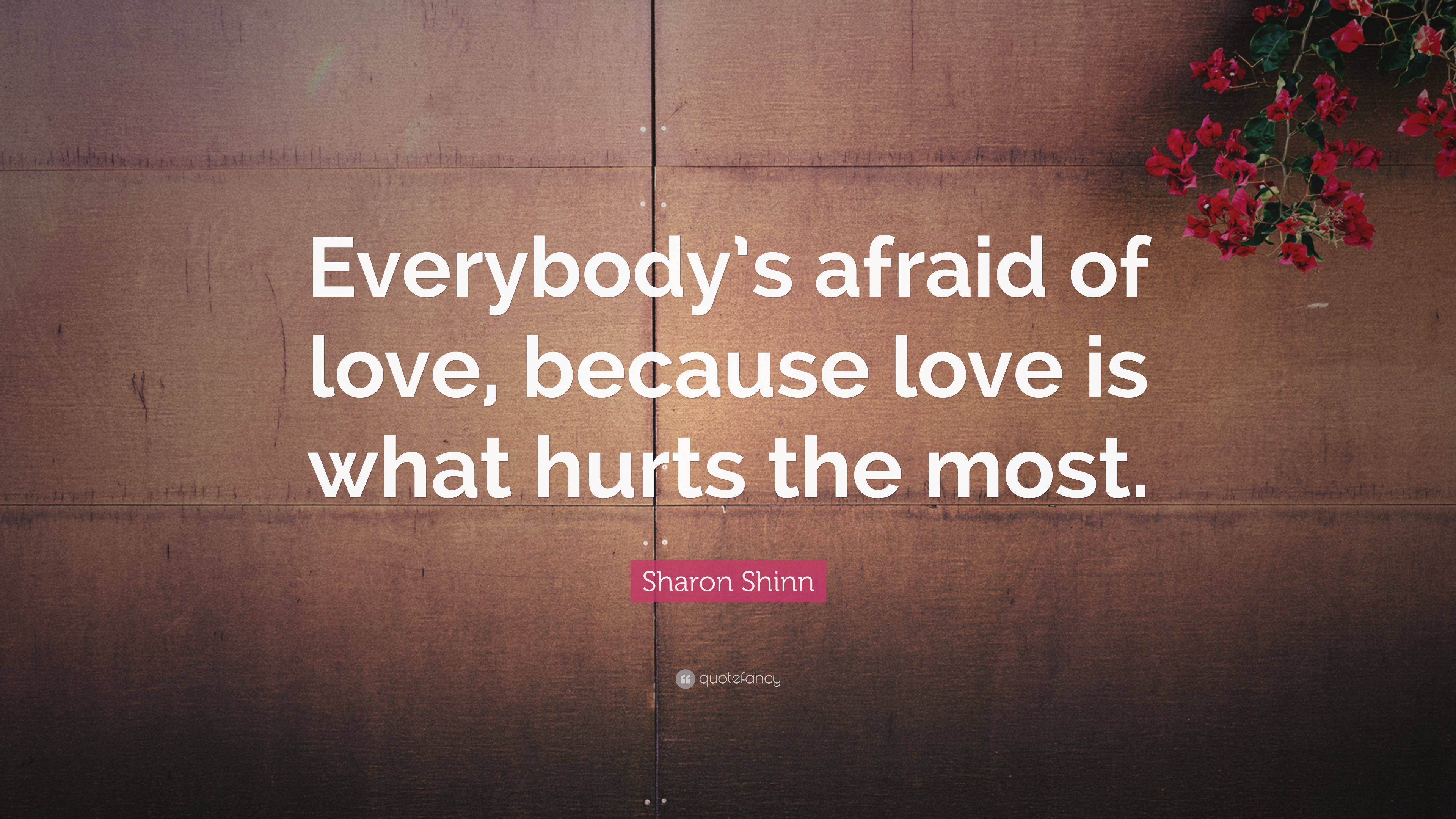 Sharon Shinn Quote Everybodys Afraid Of Love Because Love Is