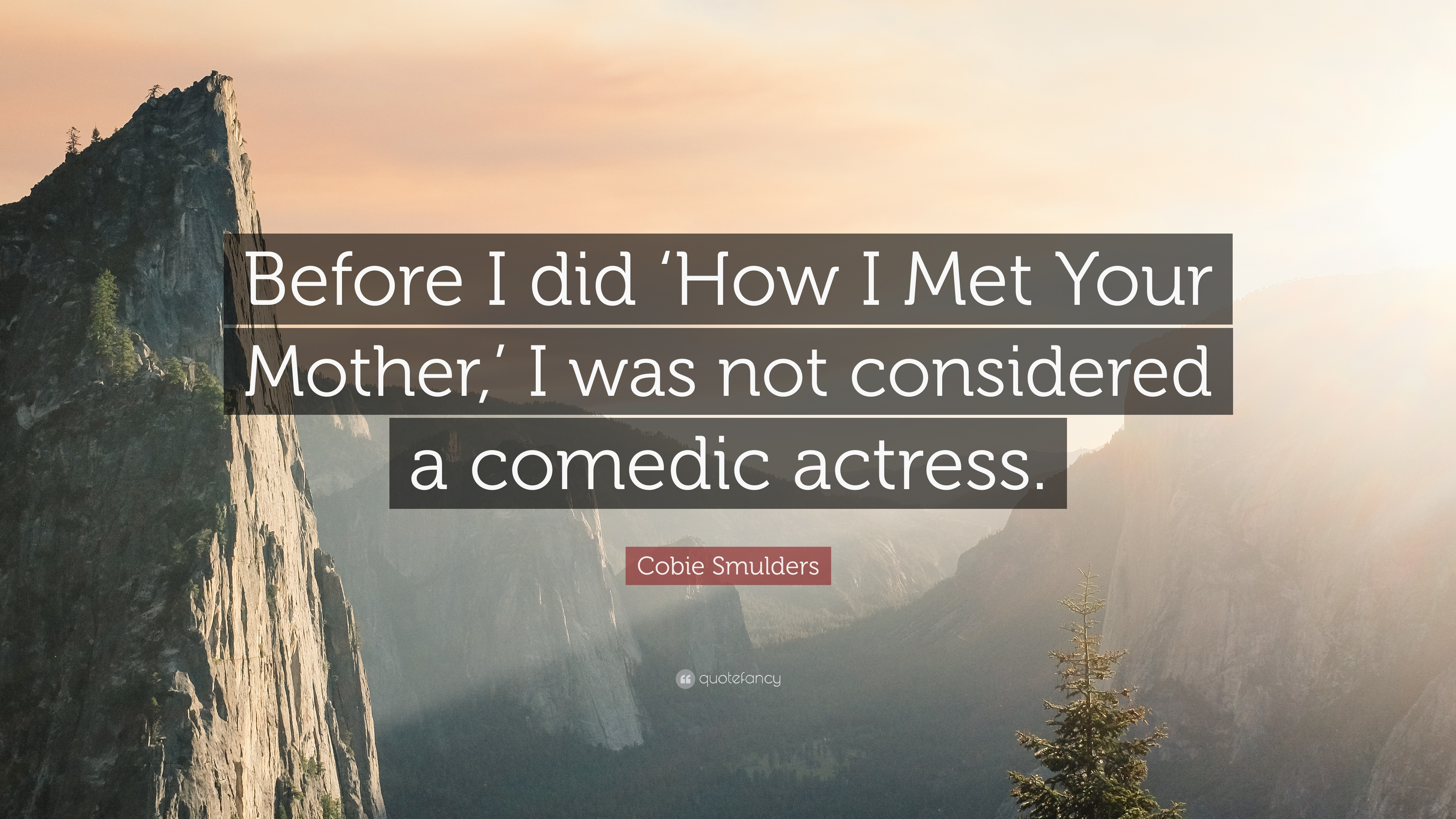 """How I Met Your Mother Quotes Cobie Smulders Quote: """"Before I did 'How I Met Your Mother,' I was  How I Met Your Mother Quotes"""