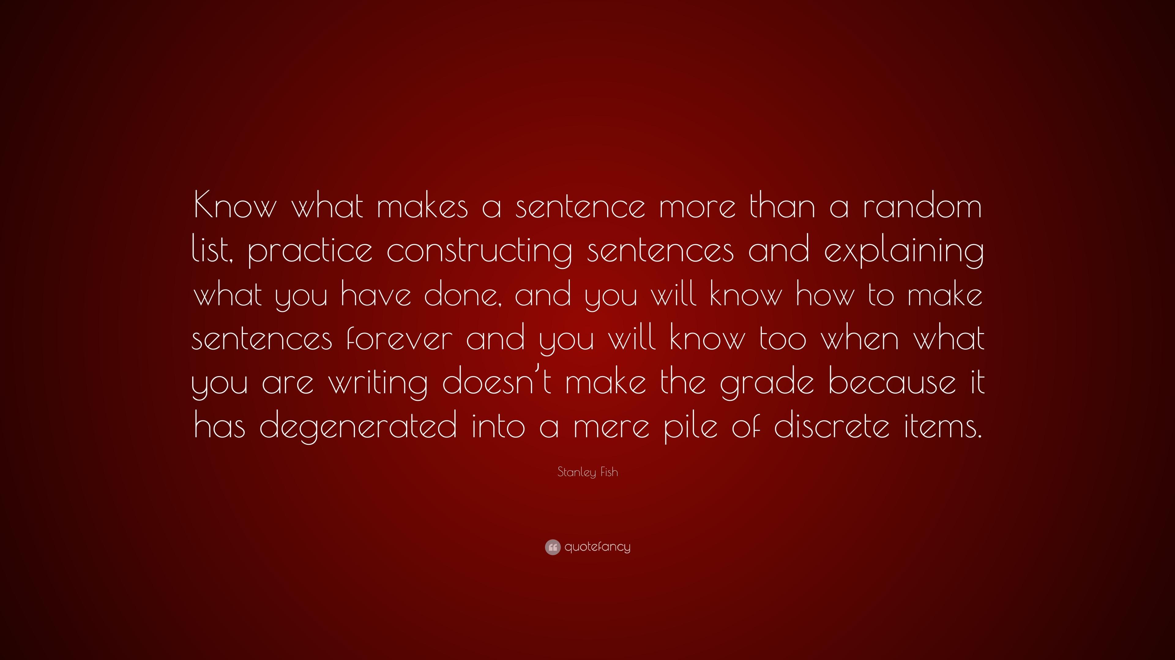 How to Write a Sparkling Sentence
