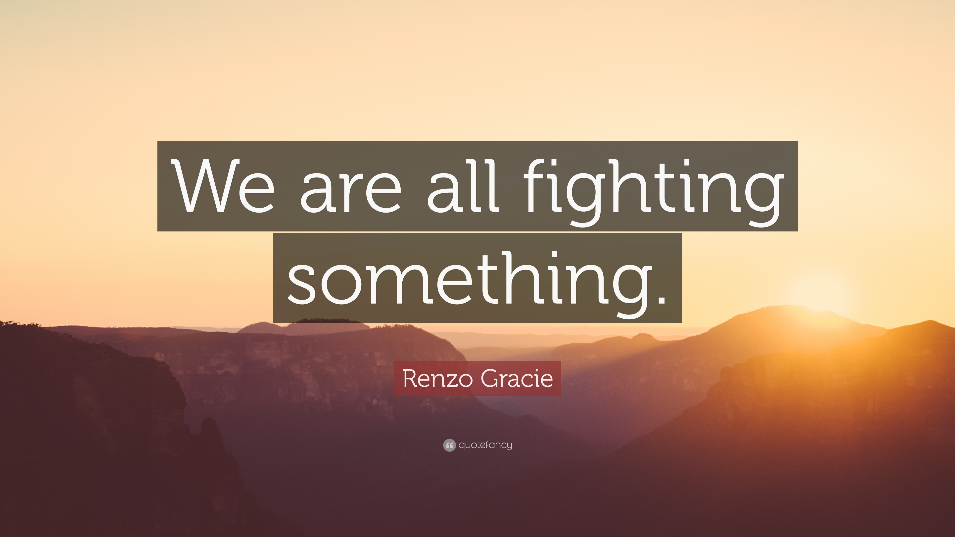 Renzo Gracie Quote We Are All Fighting Something 12 Wallpapers