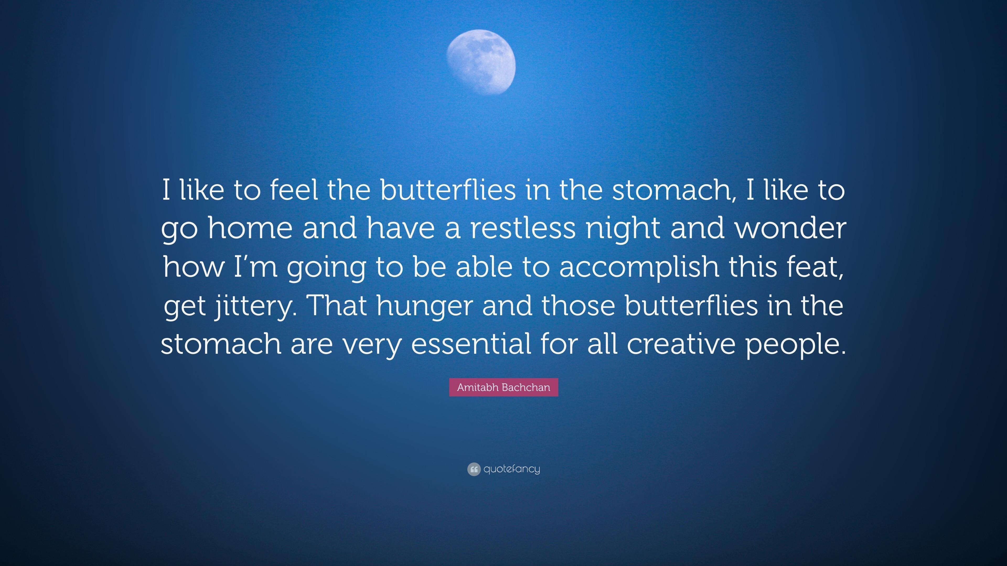Butterfly feelings in stomach