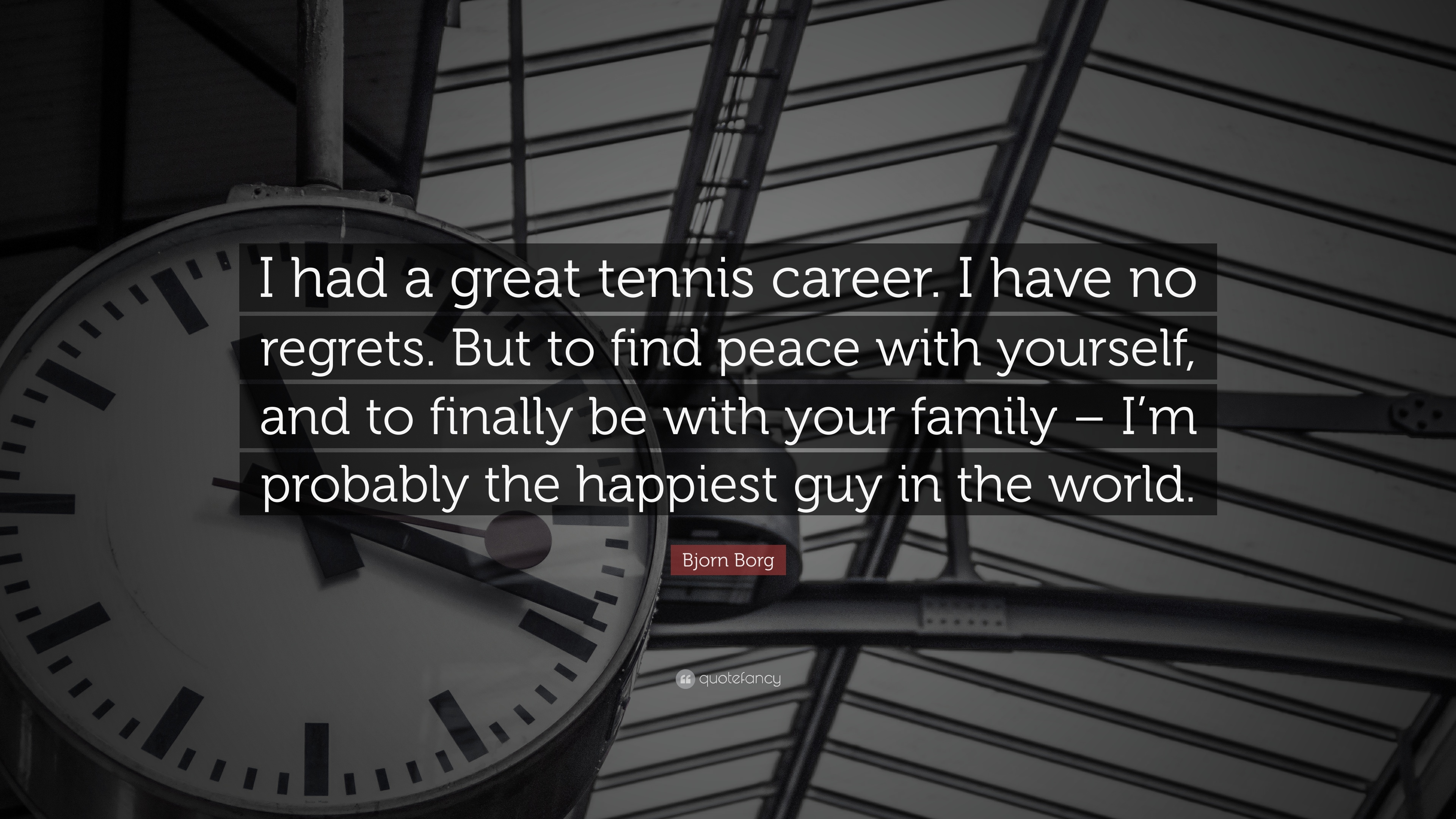 Bjorn borg quote i had a great tennis career i have no - We are the borg quote ...