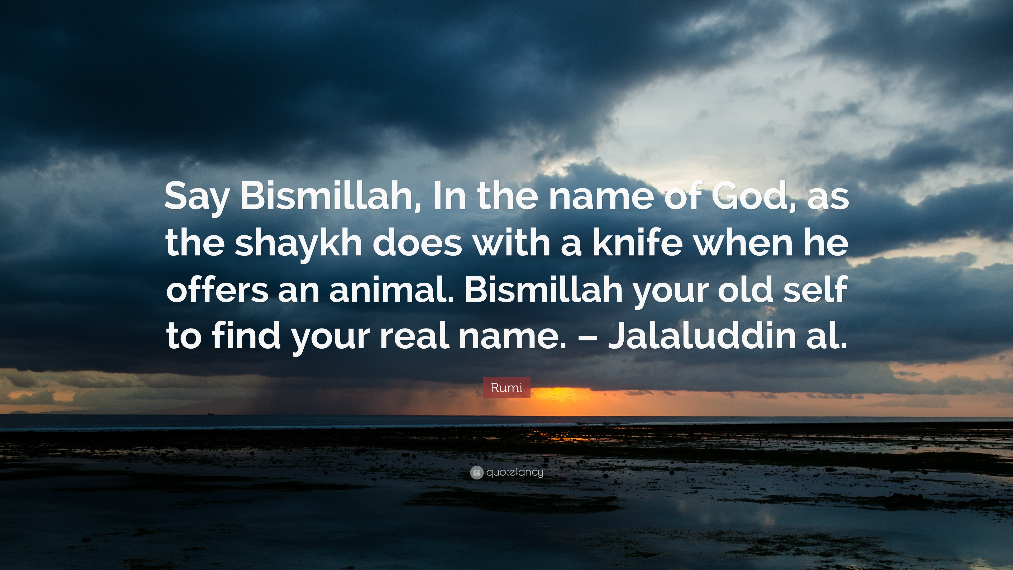 Rumi Quote Say Bismillah In The Name Of God As The Shaykh Does