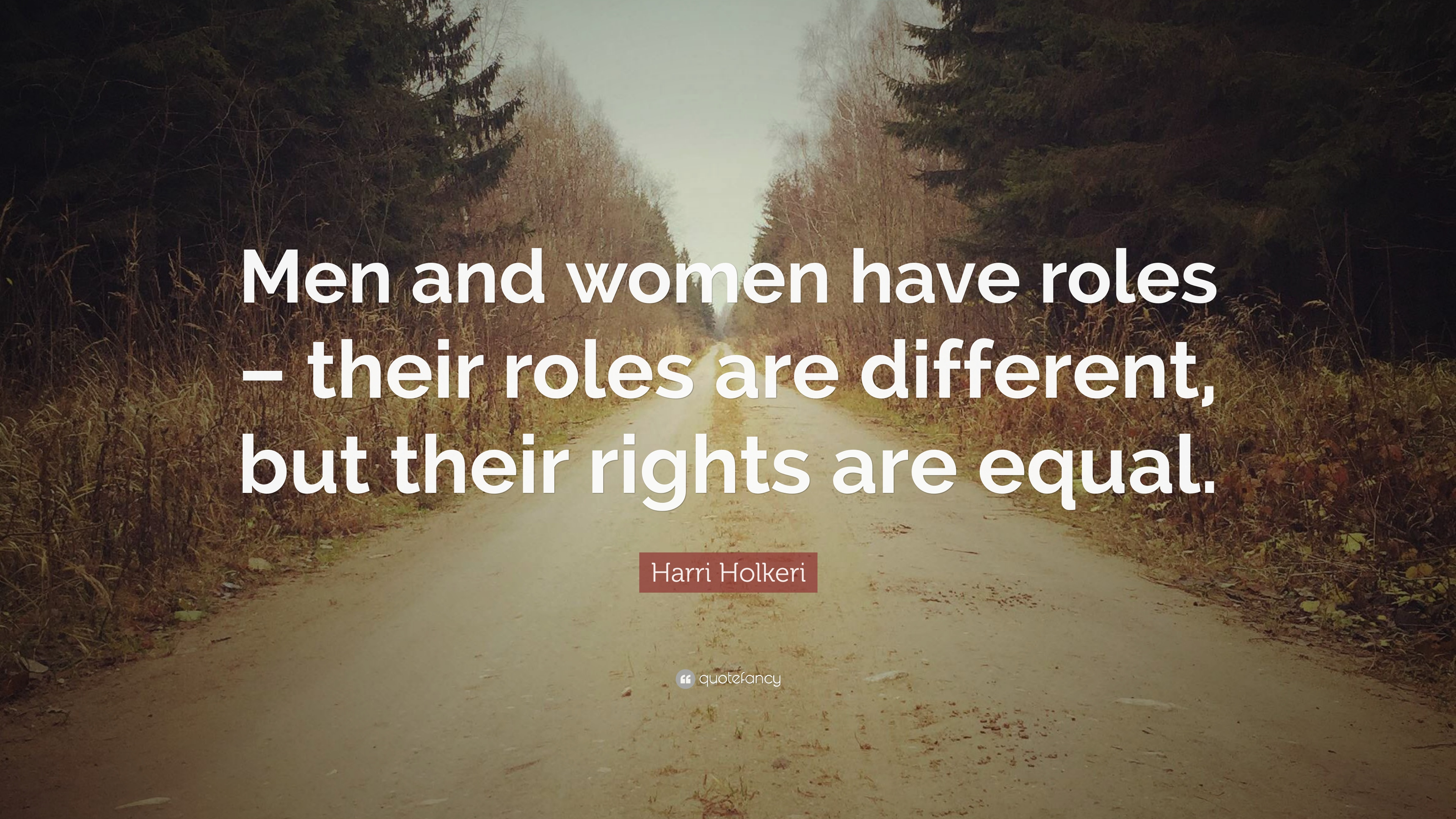 men and women are equal but different