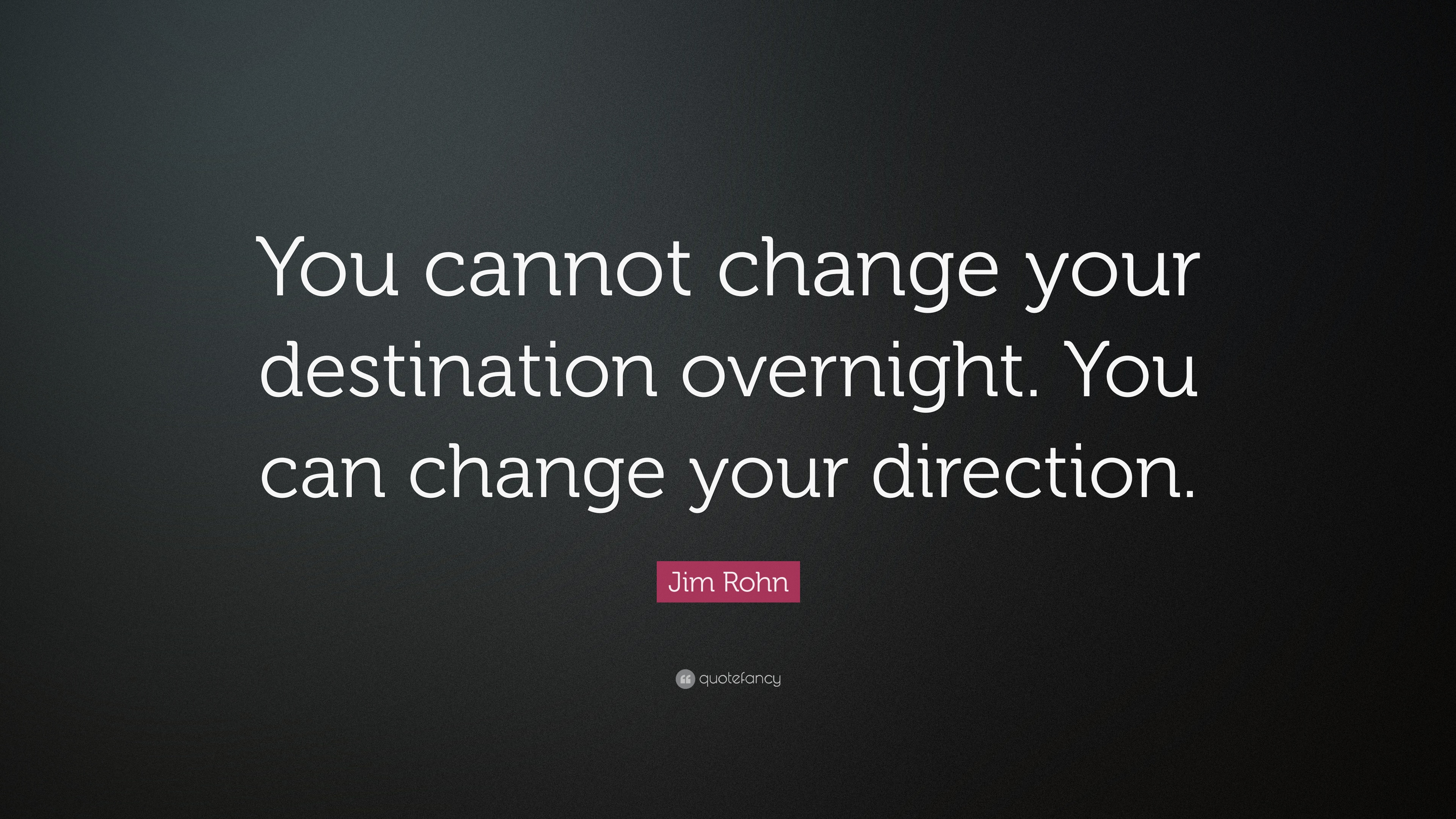 "Destination Quotes 40 Wallpapers: Jim Rohn Quote: ""You Cannot Change Your Destination"