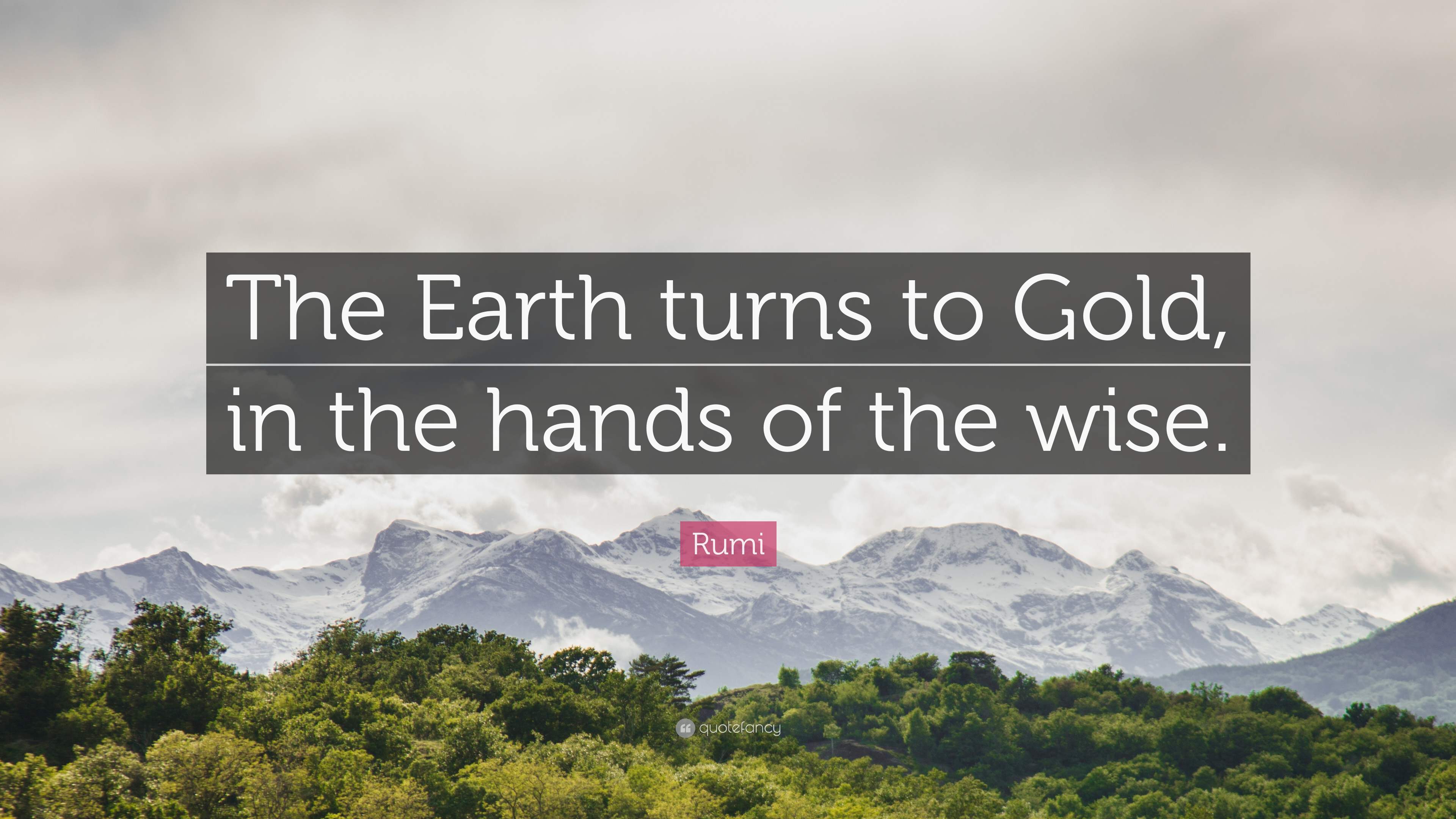 Rumi Quote The Earth Turns To Gold In The Hands Of The Wise 12