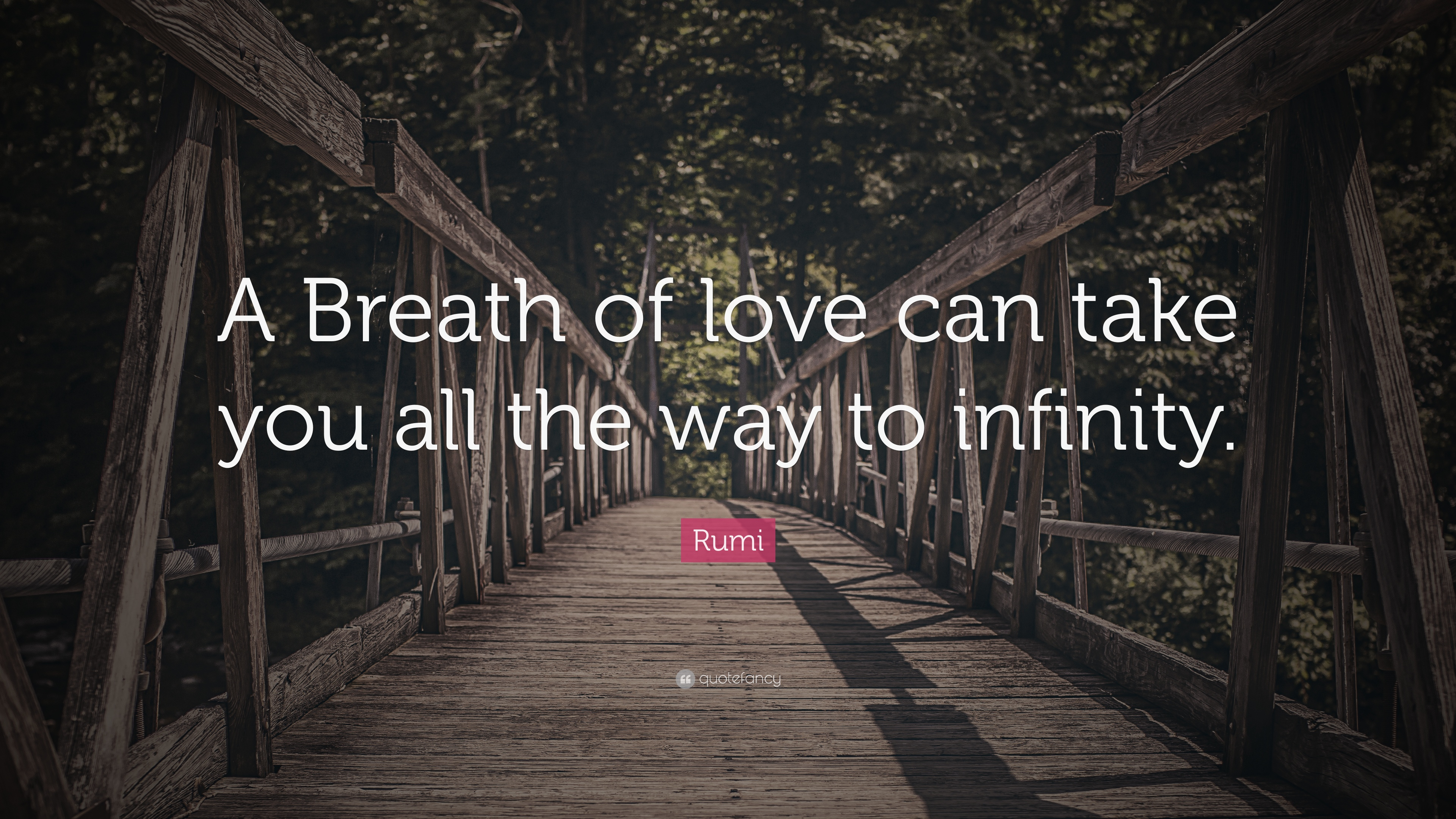 "Infinity Love Quotes Rumi Quote ""A Breath Of Love Can Take You All The Way To Infinity"