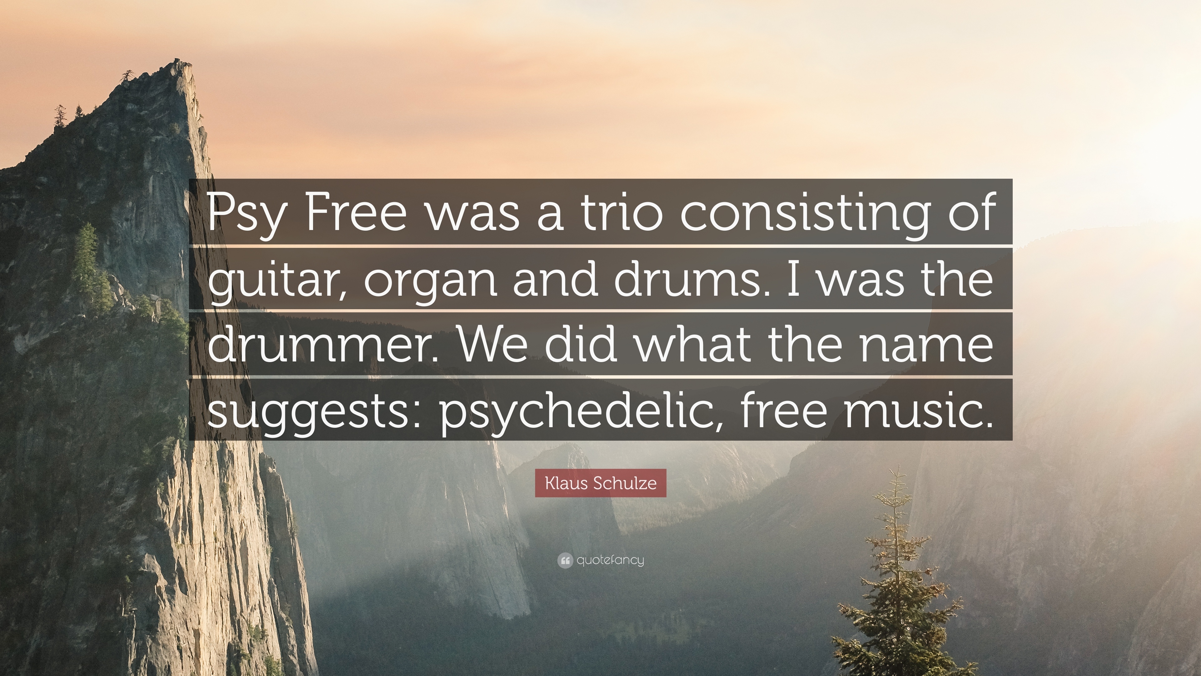 """Klaus Schulze Quote: """"Psy Free was a trio consisting of"""