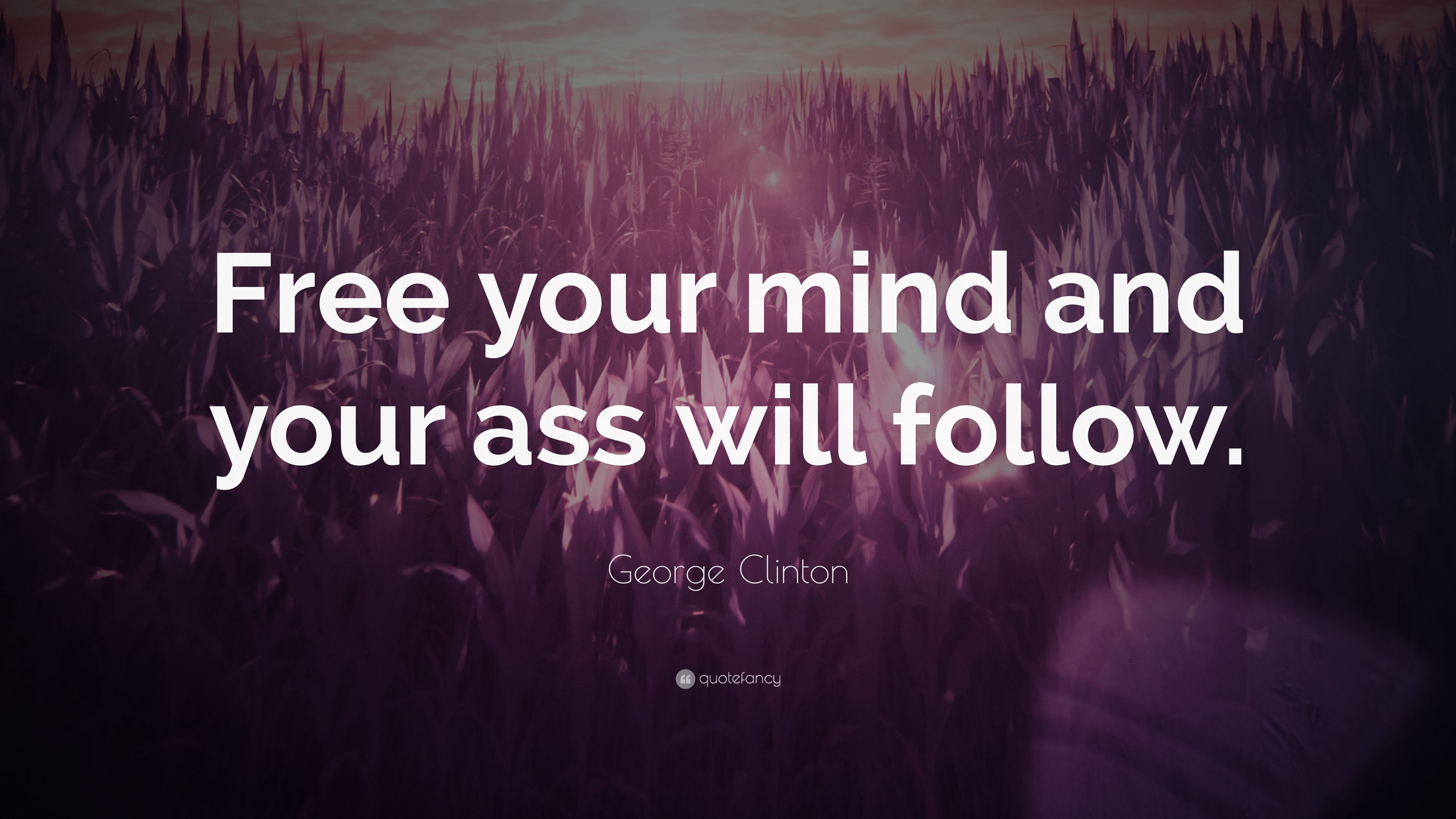 """Free Your Mind Quotes Delectable George Clinton Quote """"Free Your Mind And Your Ass Will Follow"""