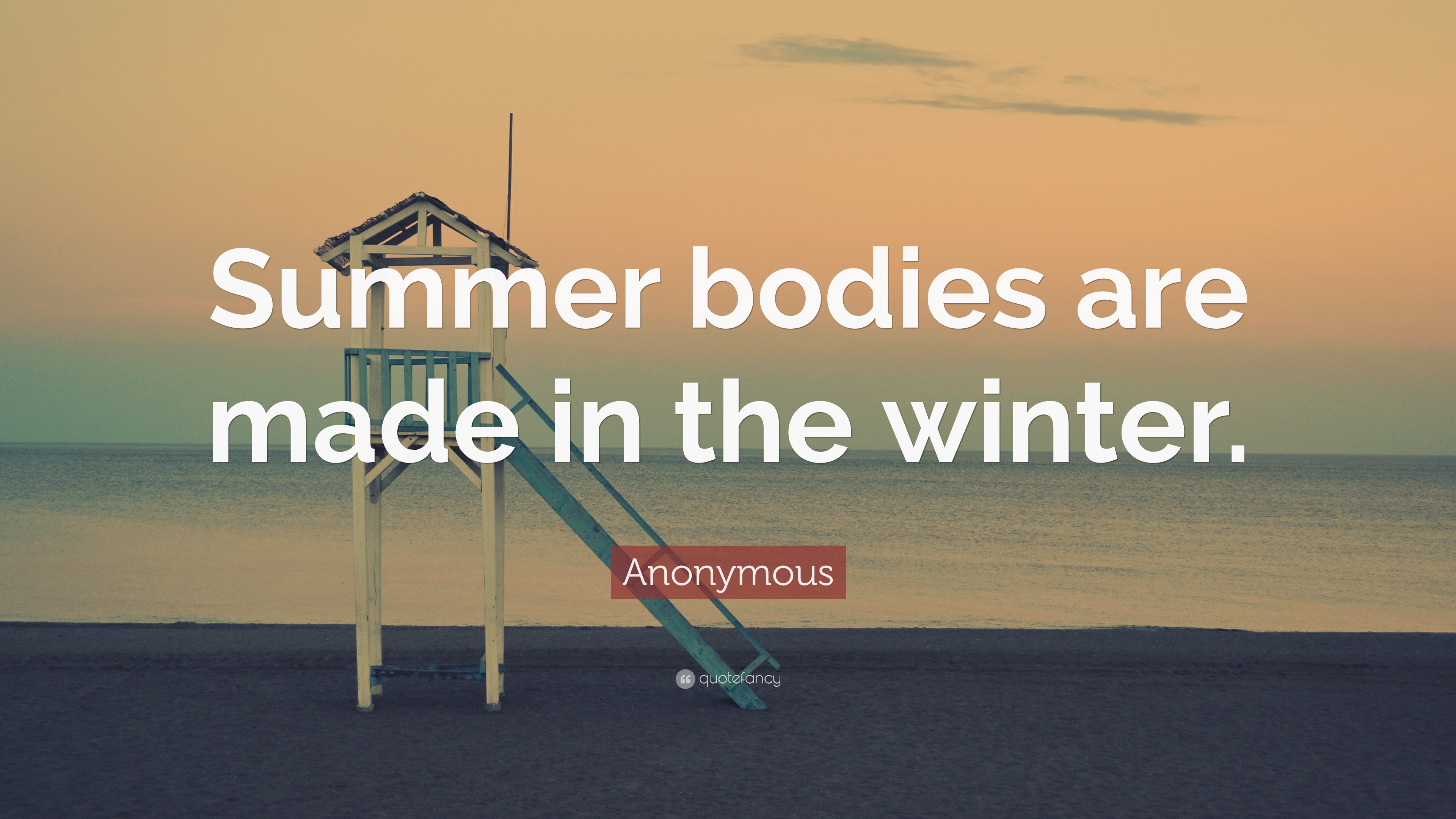 "Anonymous Quote: ""Summer bodies are made in the winter "" (19"