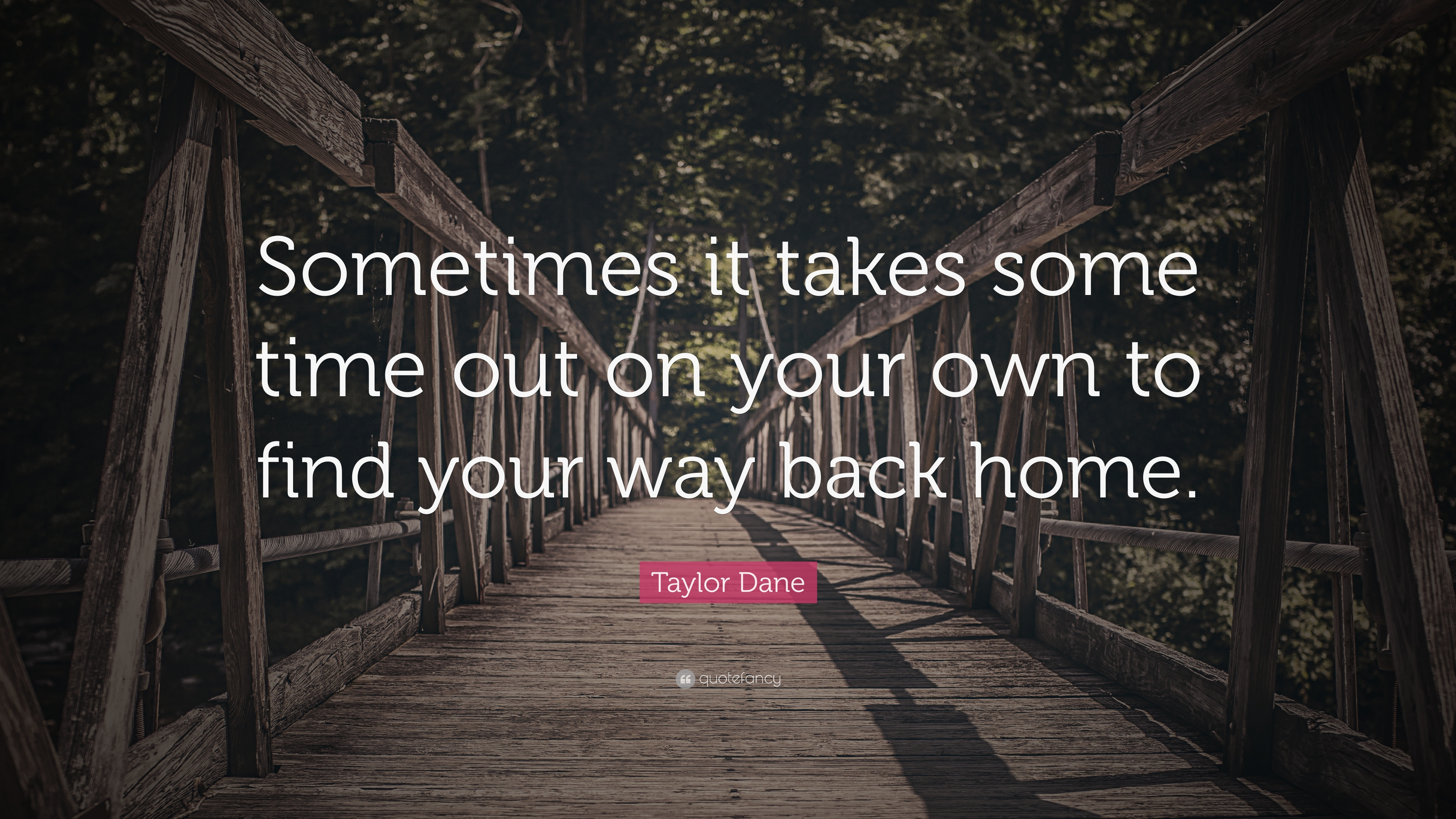 Taylor Dane Quote Sometimes It Takes Some Time Out On Your Own To