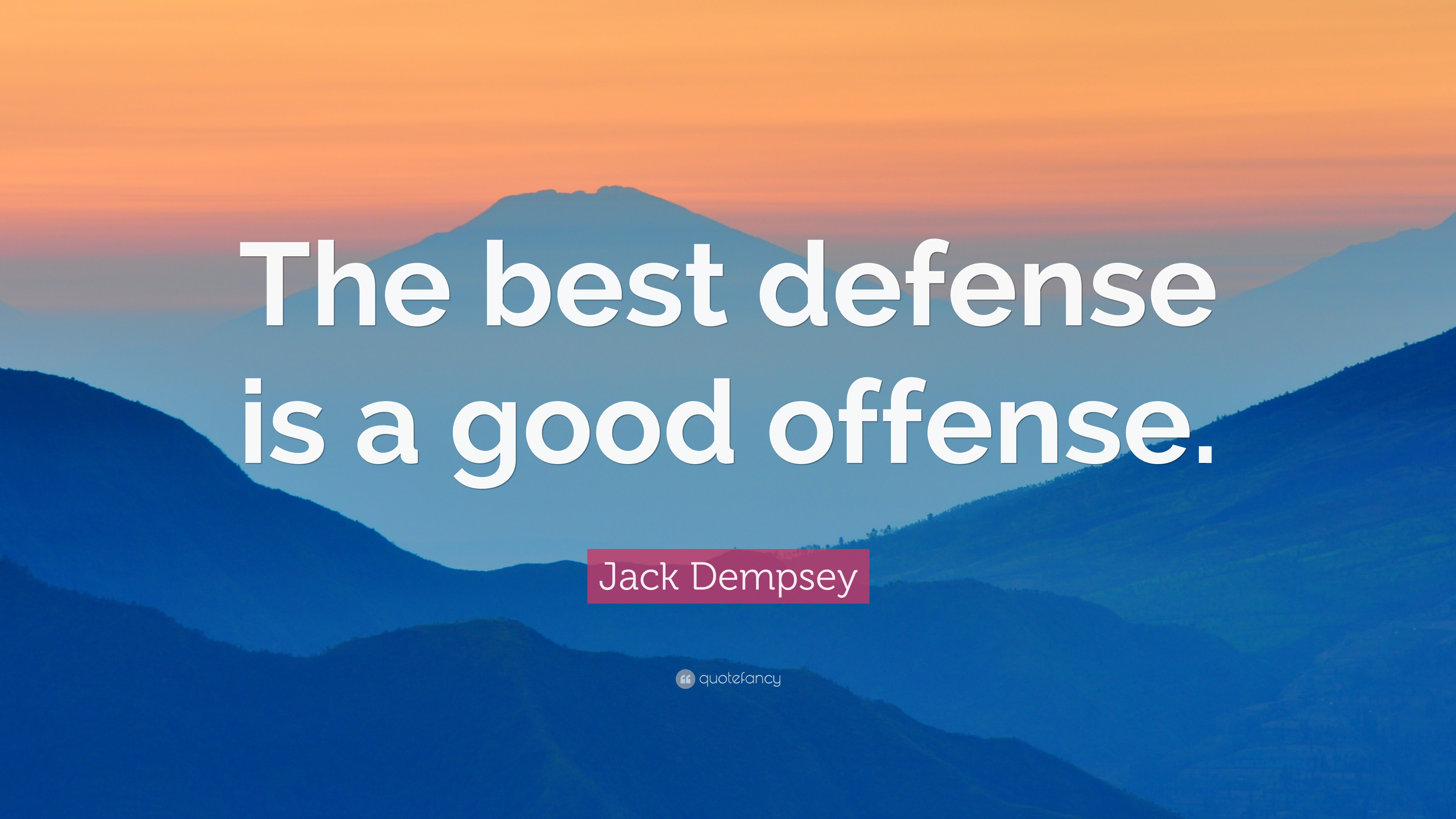"the best defense is a good Like vince said, 'the best defense is a good offense ""the best defense is a good offense"" the stream offers a rich and lively source for breaking news."