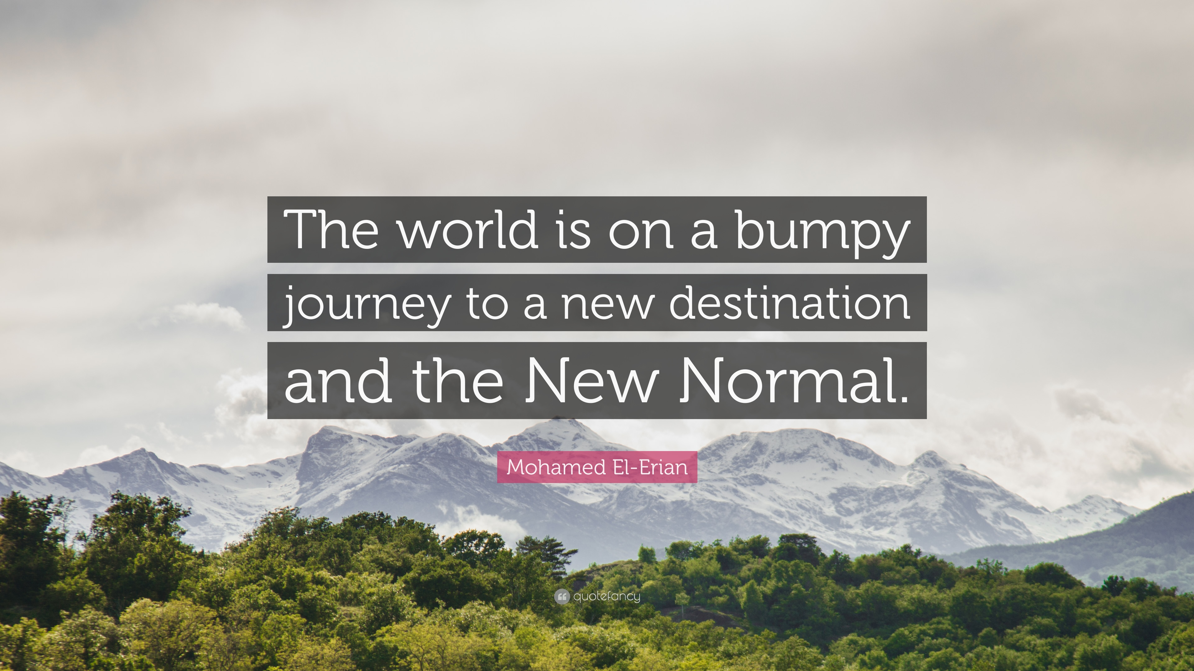 Mohamed El Erian Quote The World Is On A Bumpy Journey To A New