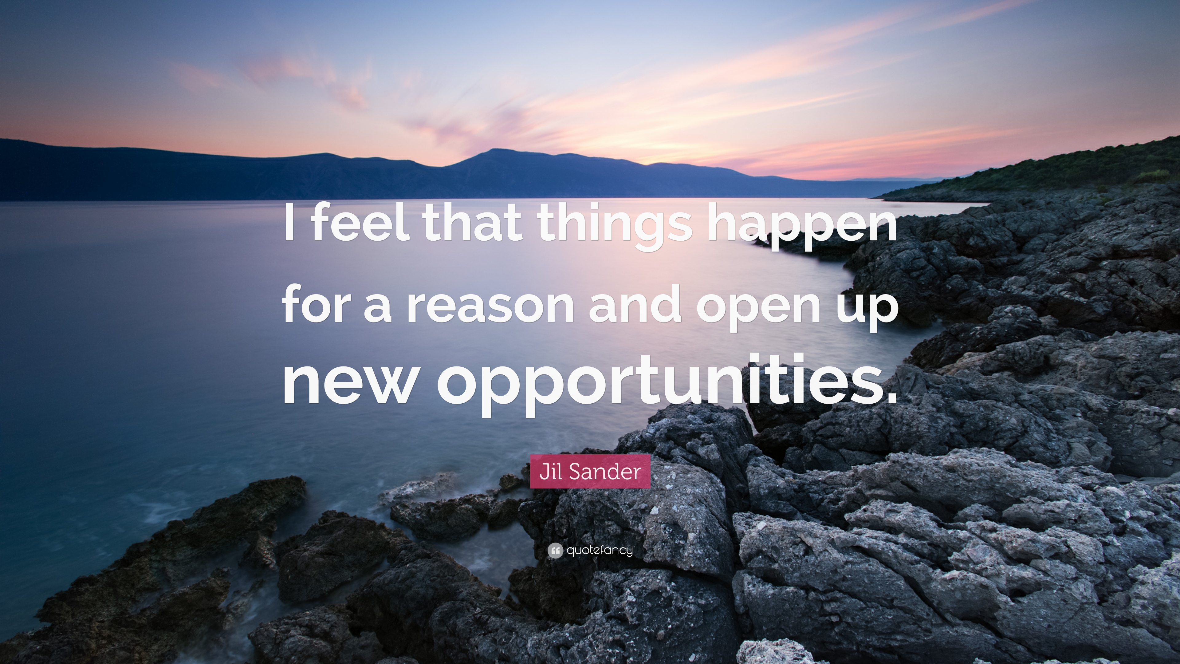 Jil Sander Quote I Feel That Things Happen For A Reason And Open