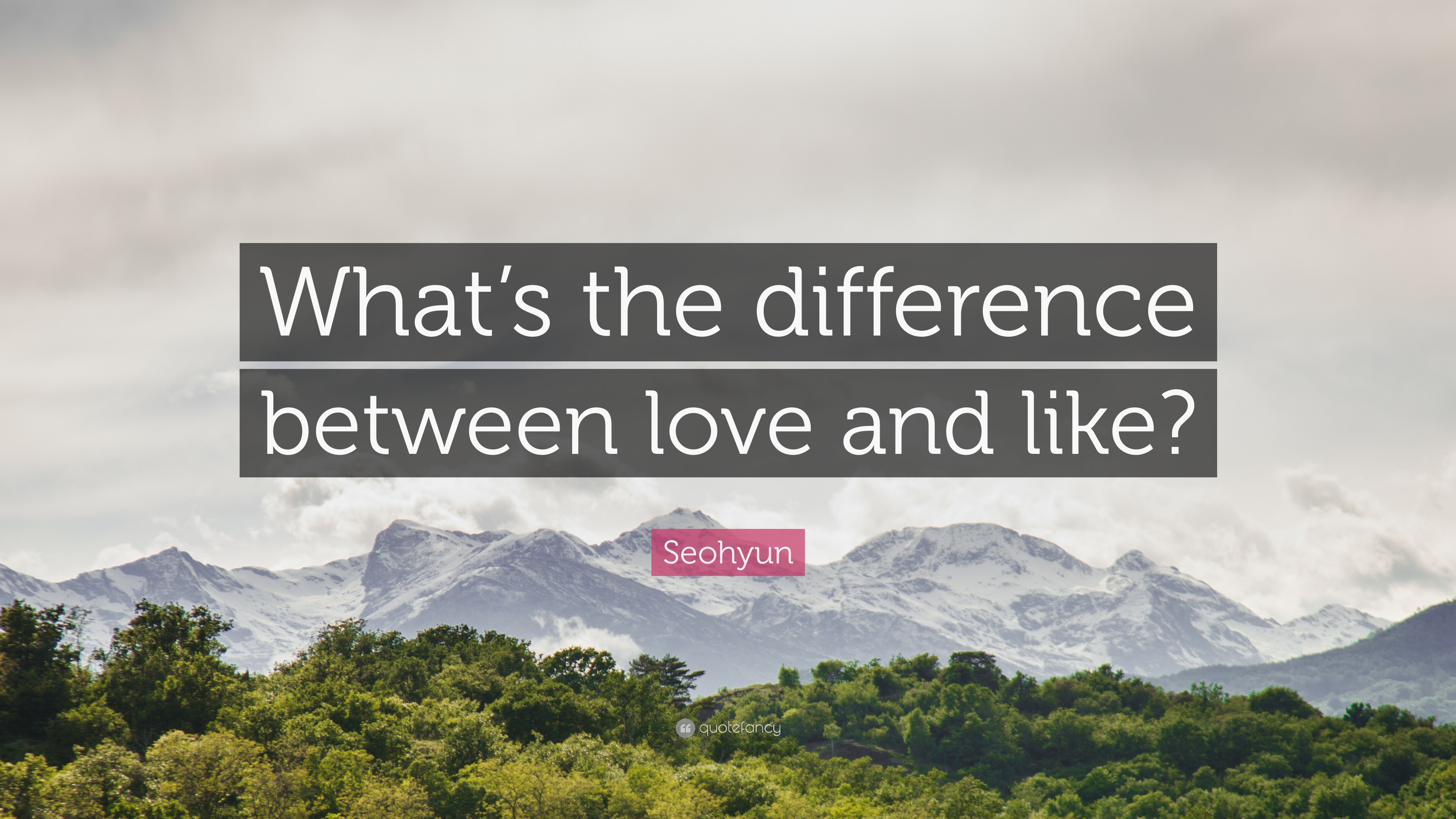 whats the difference between like and love