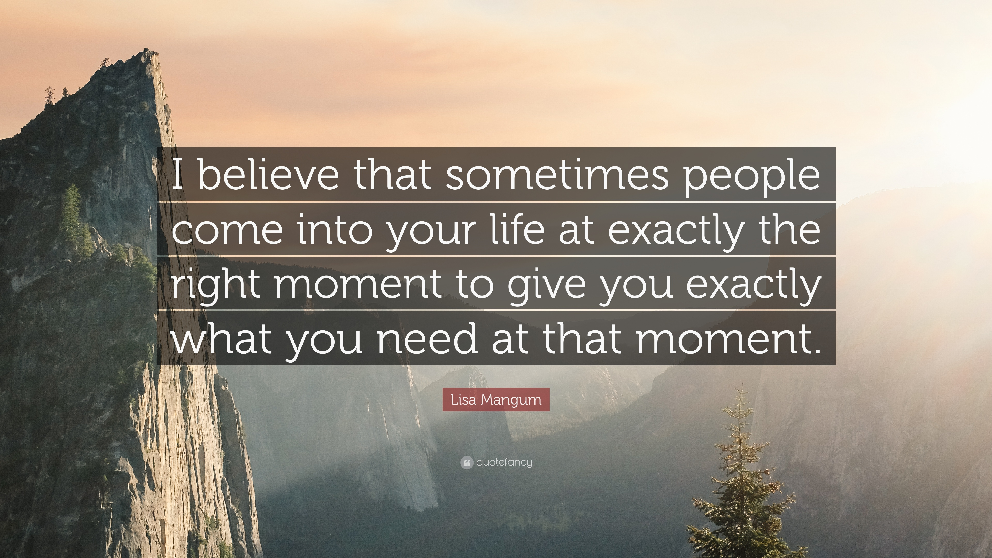 Lisa Mangum Quote I Believe That Sometimes People Come Into Your