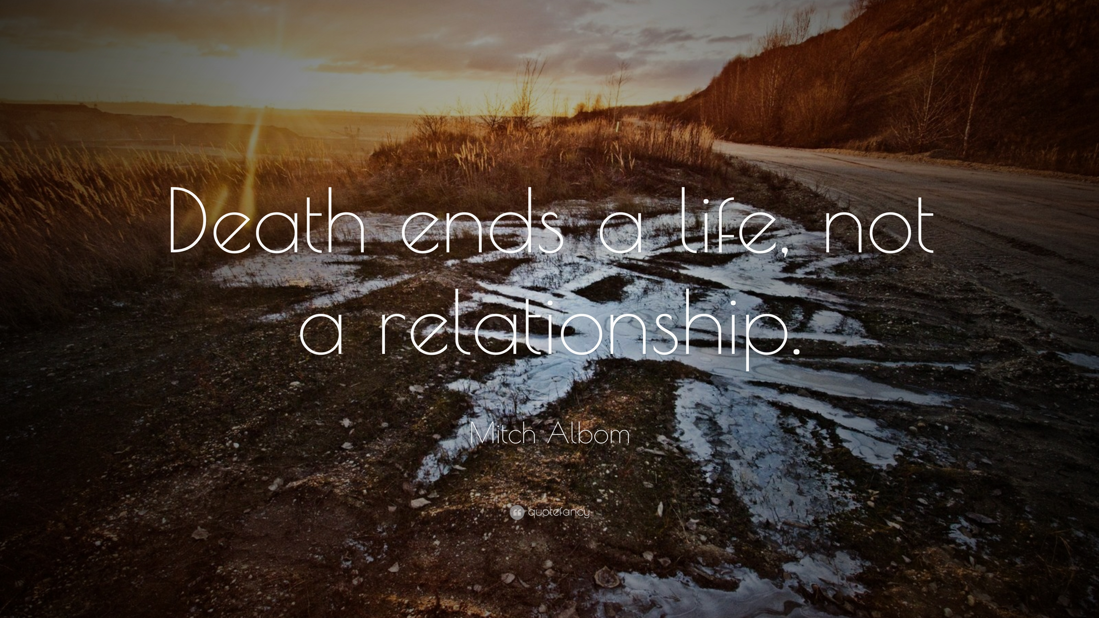 "Mitch Albom Quote: ""Death ends a life, not a relationship"