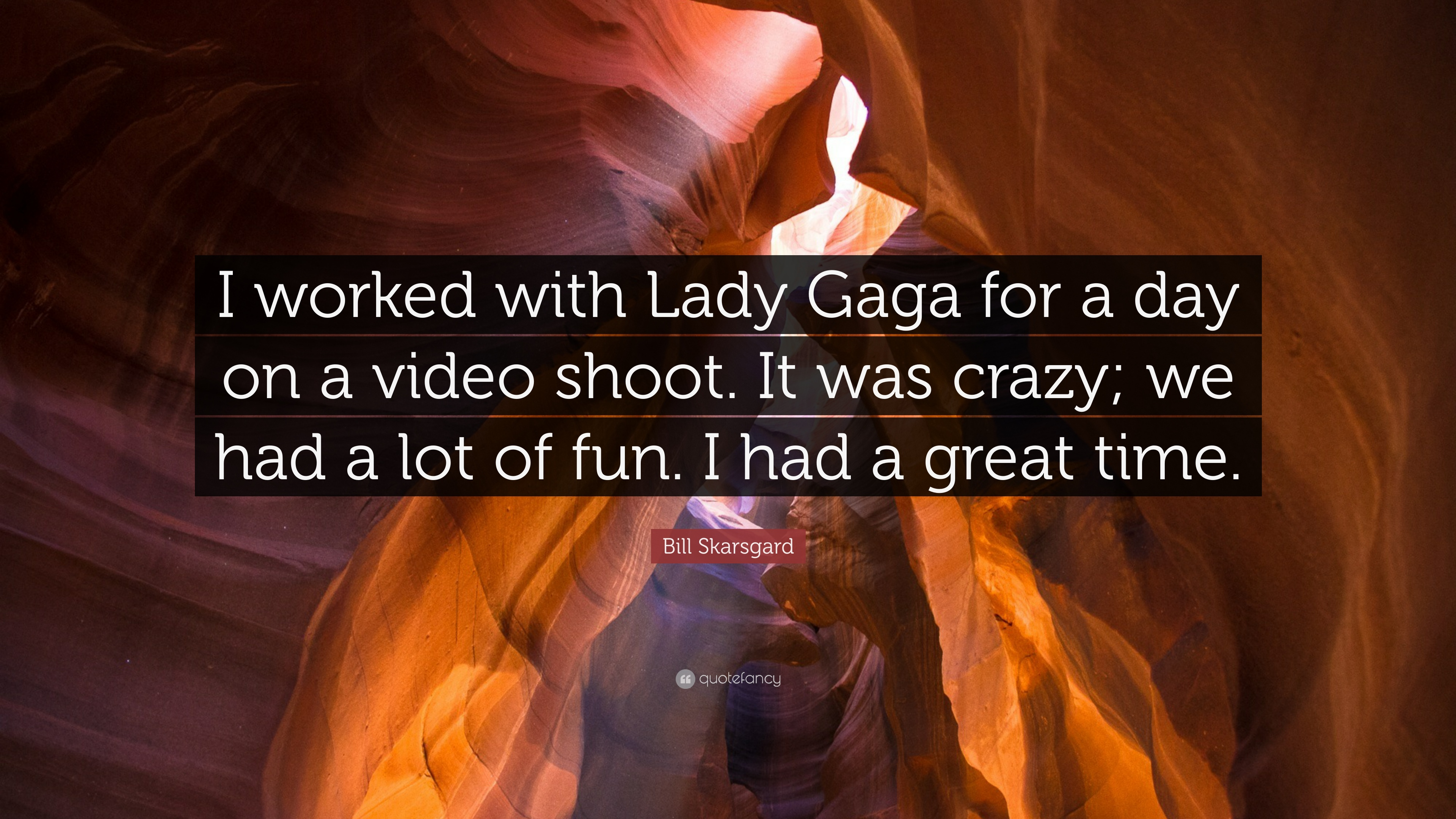 Bill Skarsgard Quote I Worked With Lady Gaga For A Day On A Video