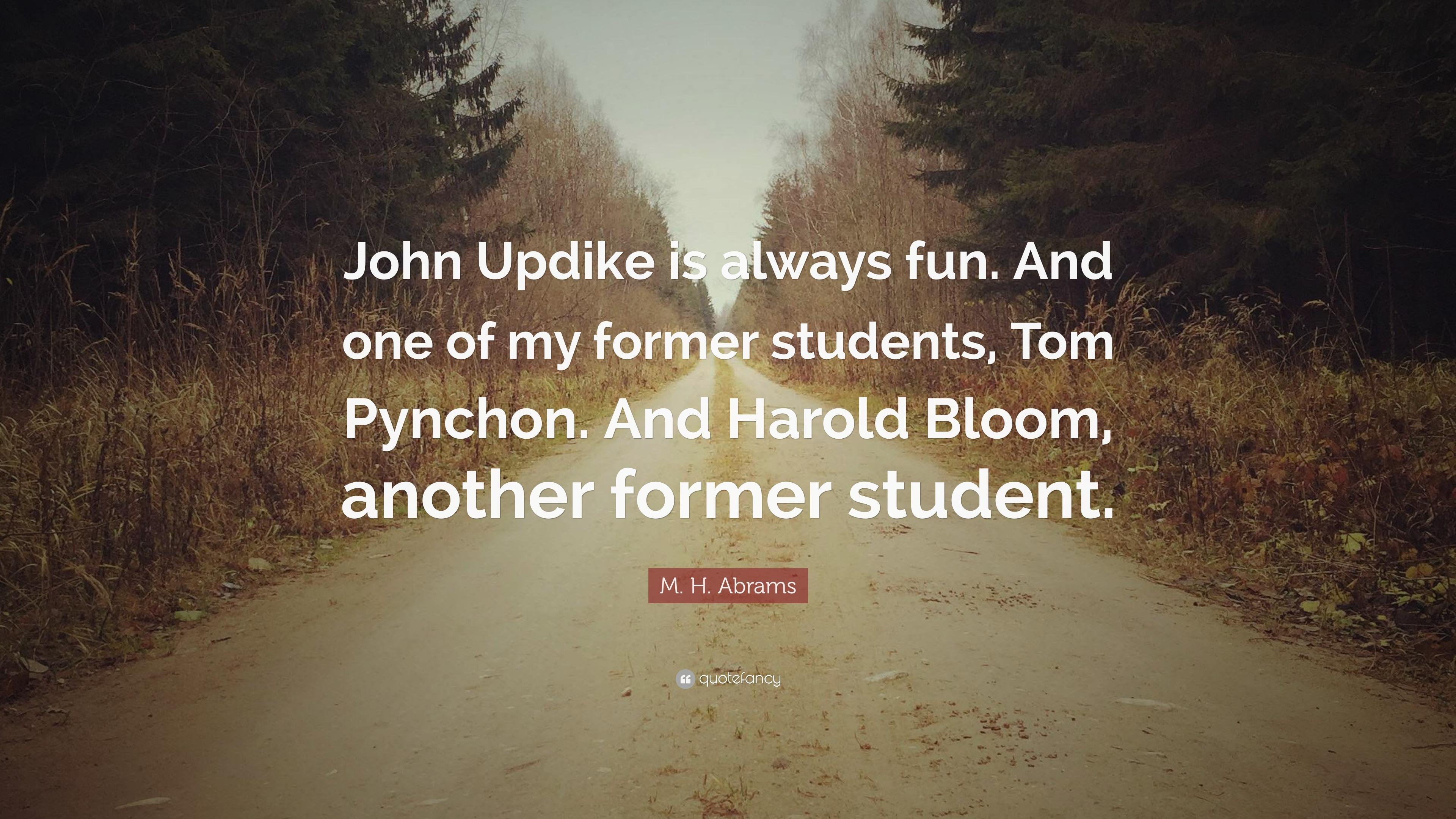 thomas pynchon bloom harold