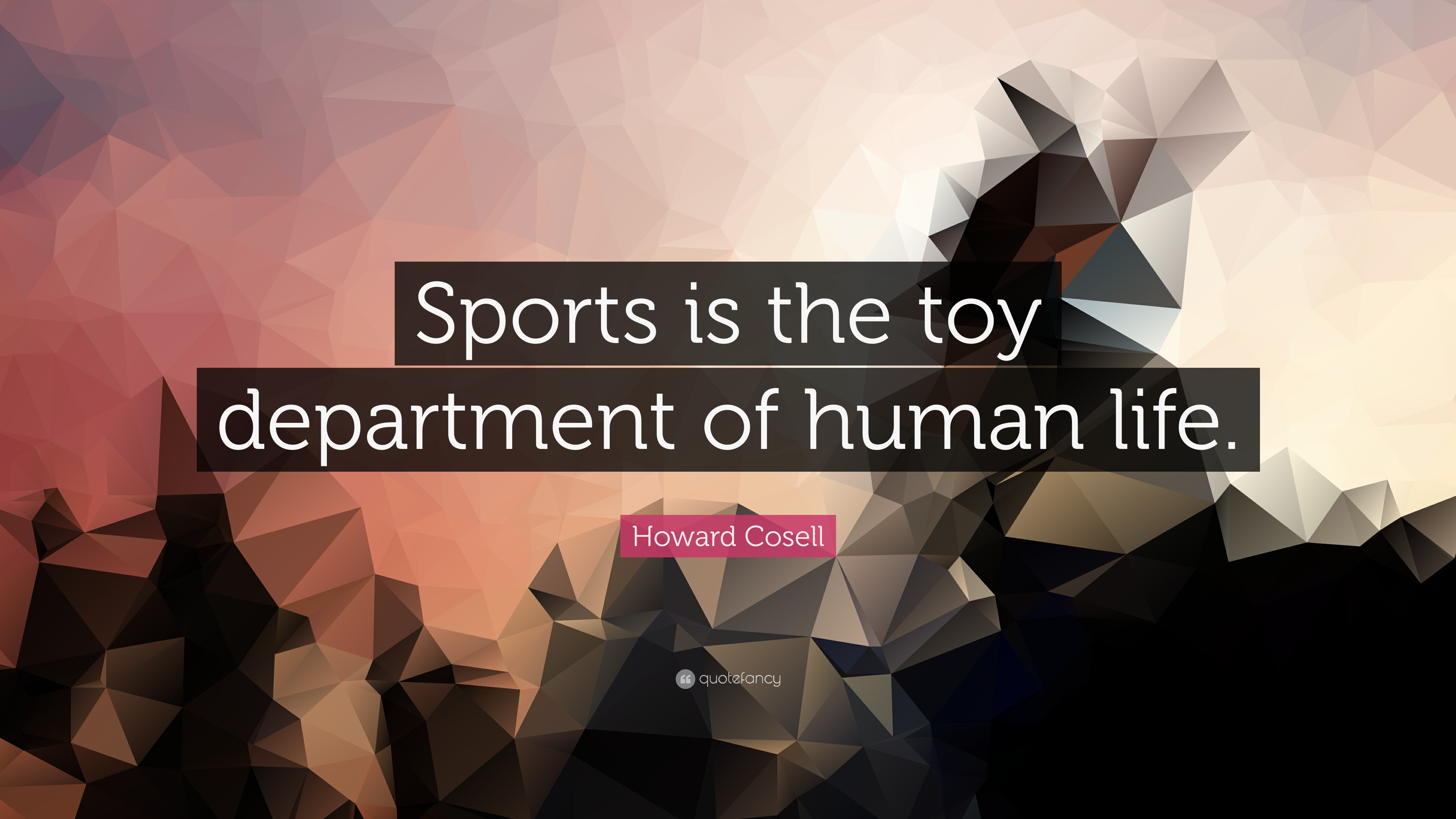 Howard Cosell Quote Sports Is The Toy Department Of Human Life